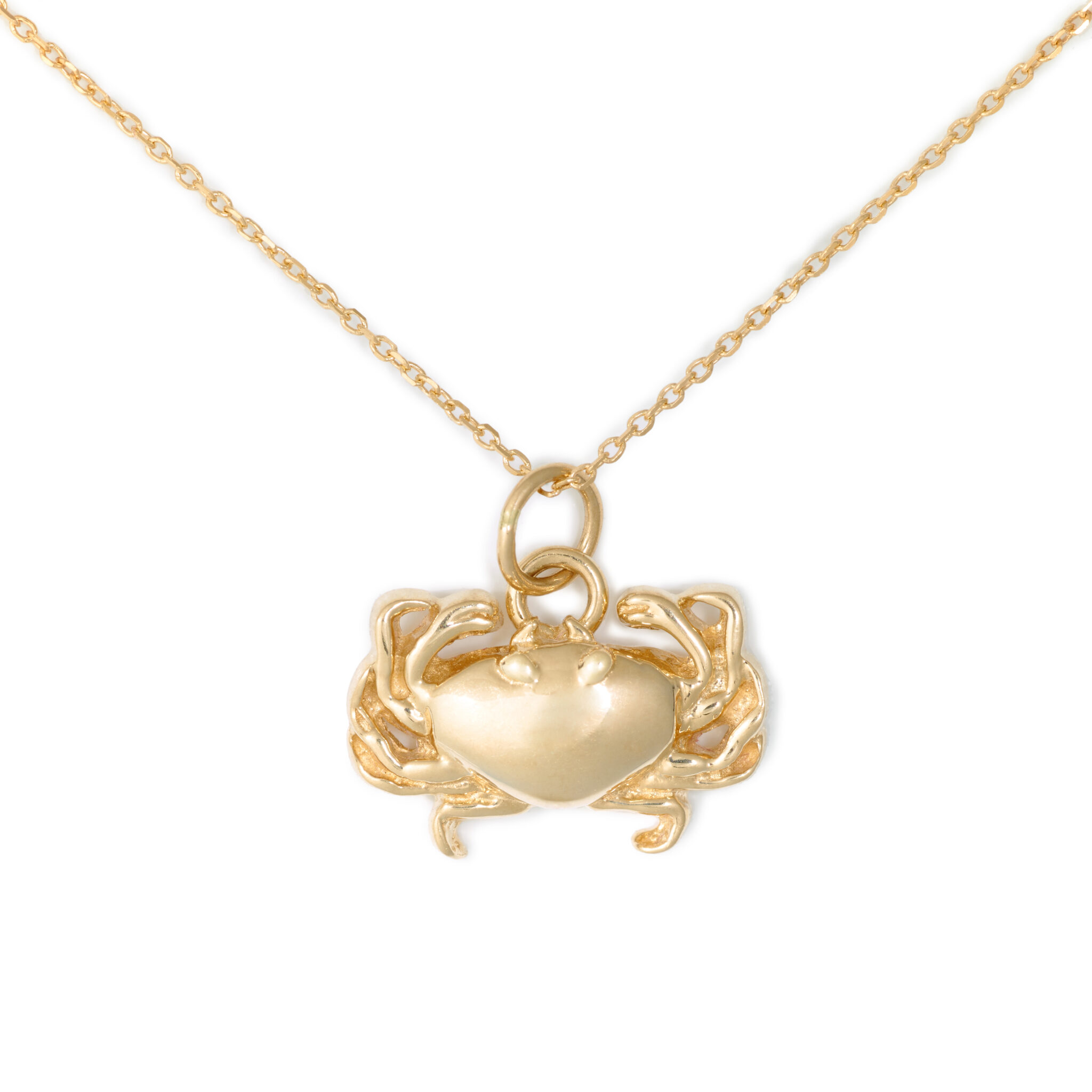 Crab Necklace, Yellow Gold Plated