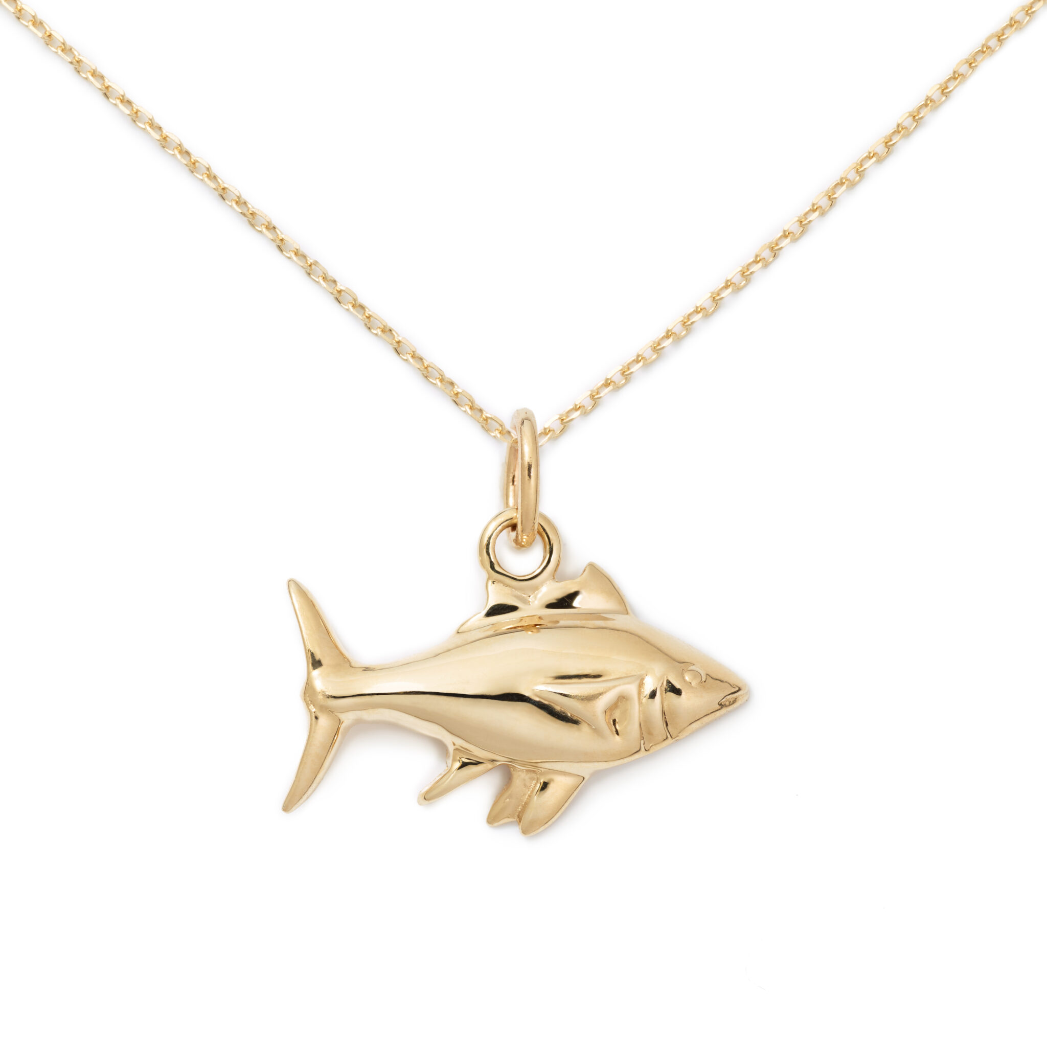 Fish Pendant, 14K Yellow Gold