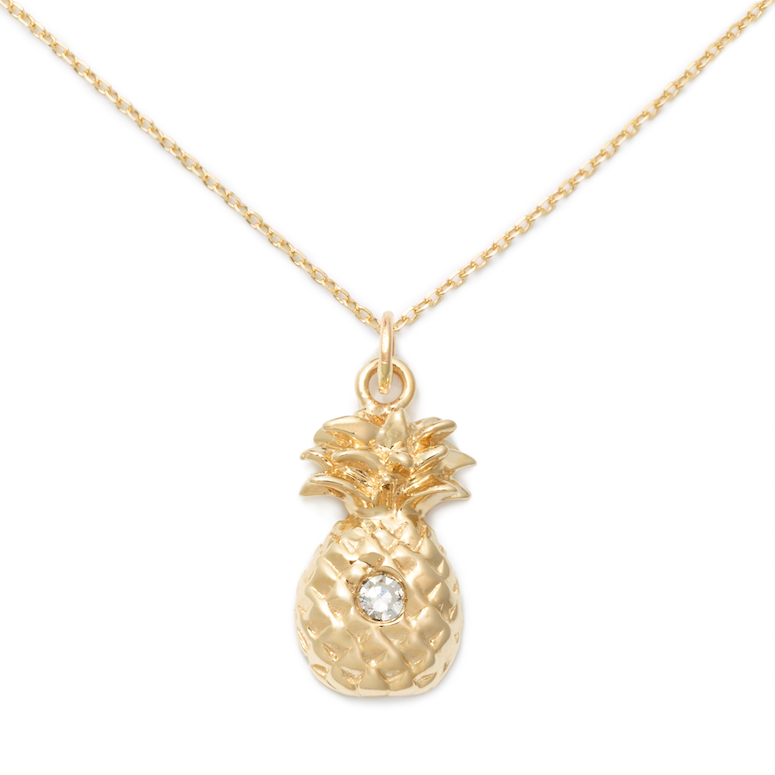 14K Yellow Gold + Diamond Pineapple Pendant