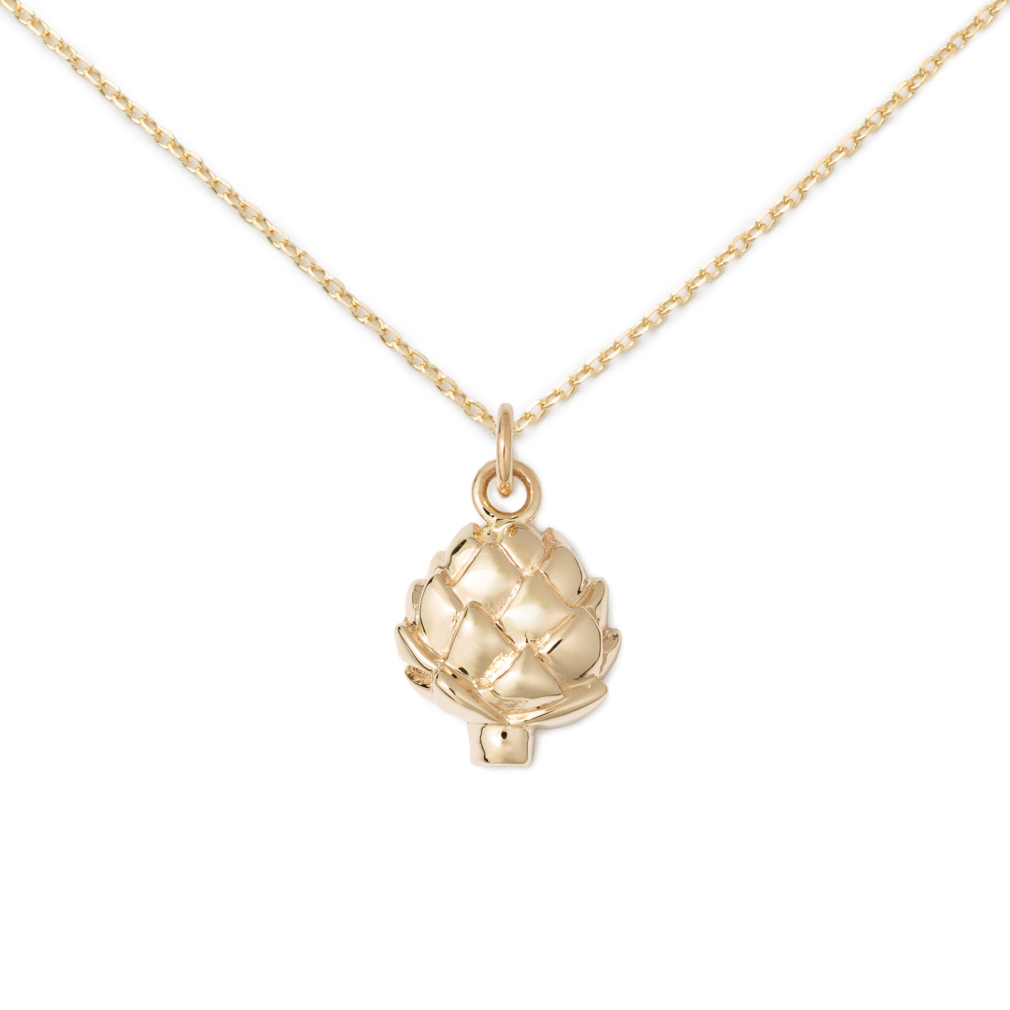 Gold Plated Artichoke Necklace