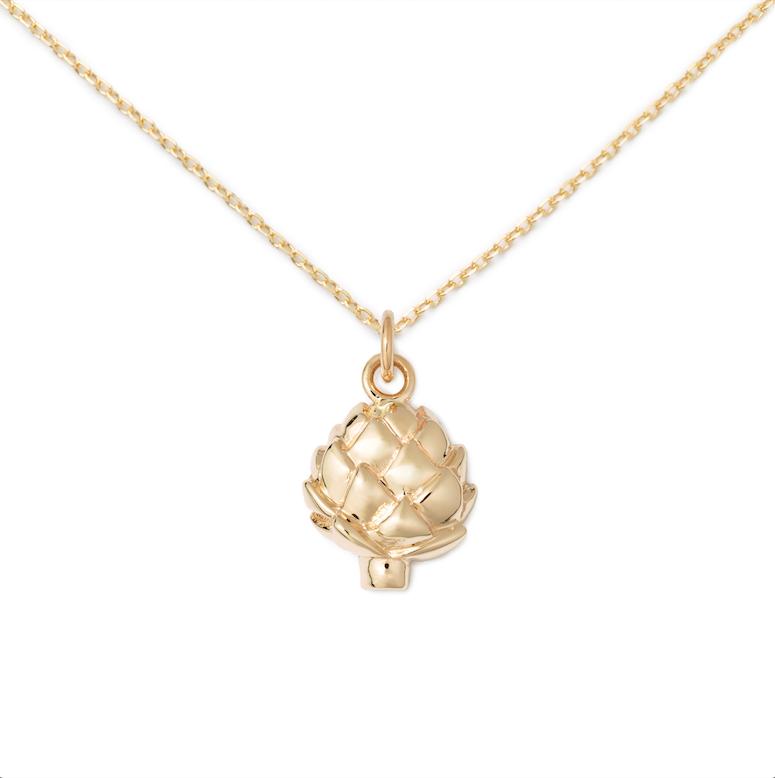 Artichoke Pendant, 14K Yellow Gold