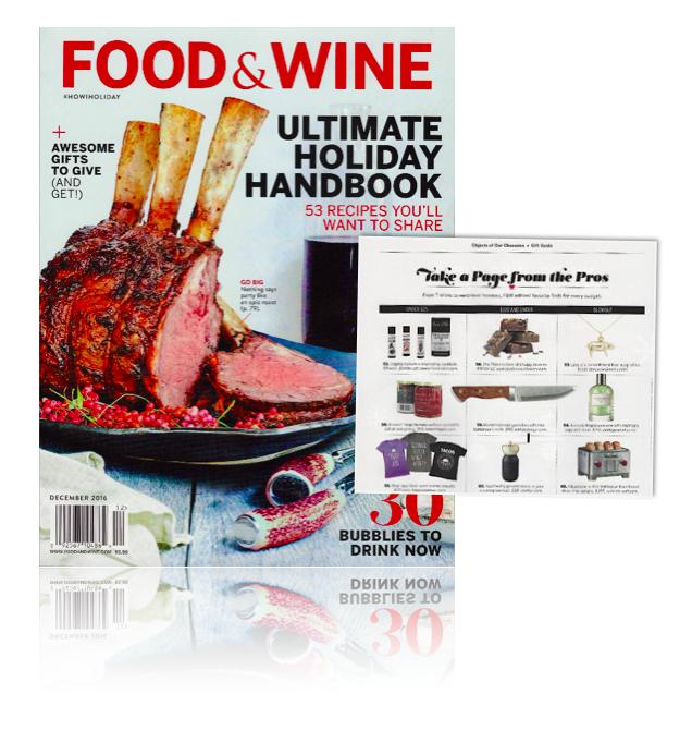 Food & Wine mag 2016
