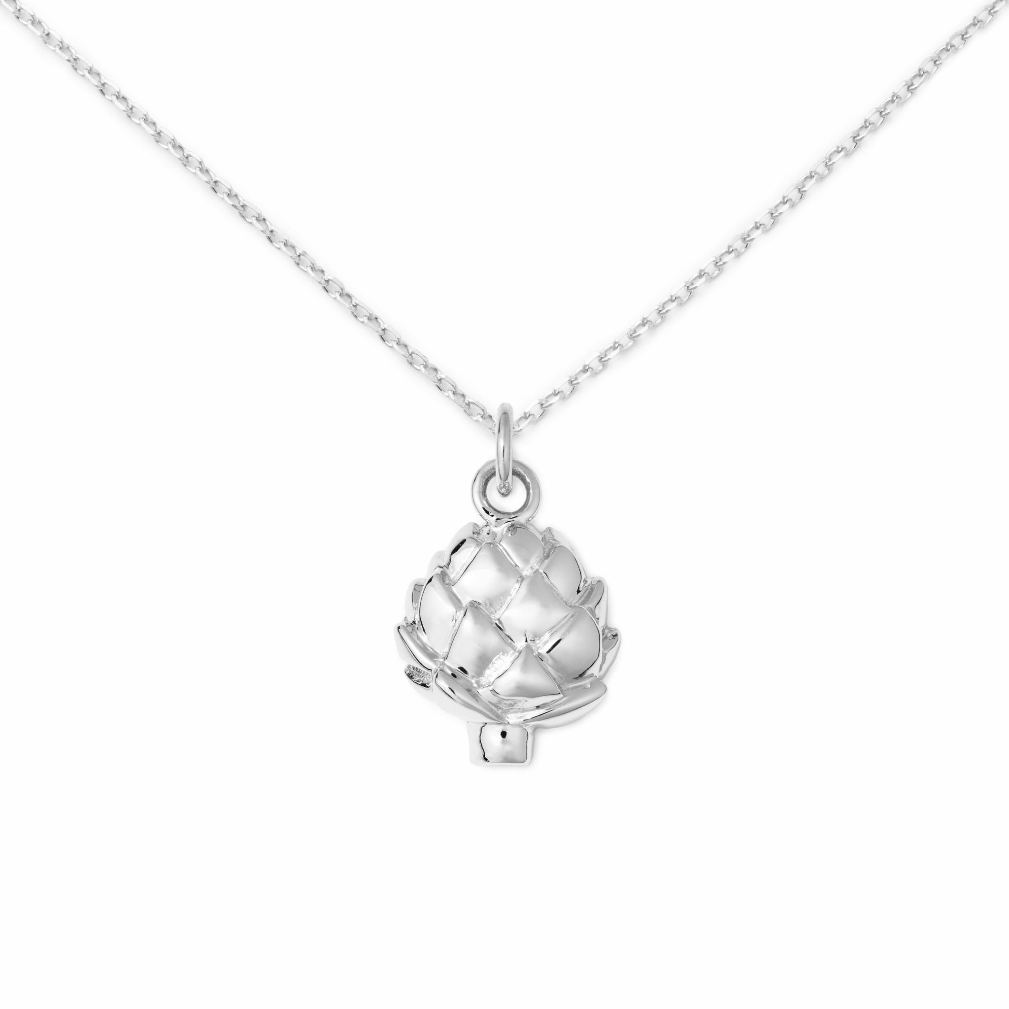 Artichoke Necklace, Sterling Silver