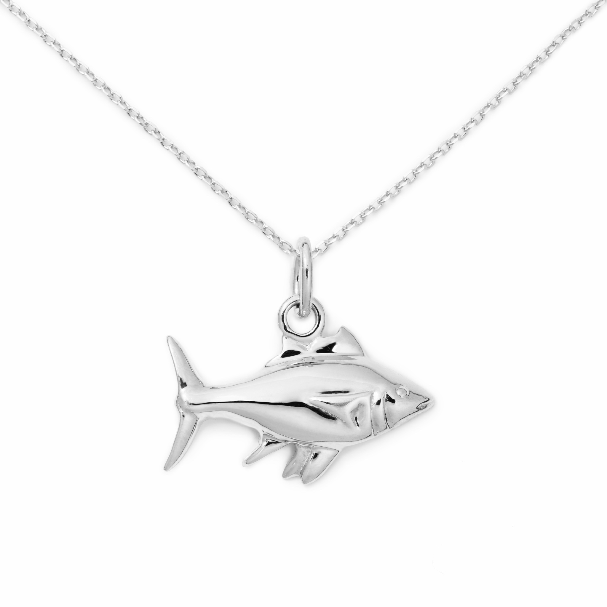 Fish Necklace, Sterling Silver