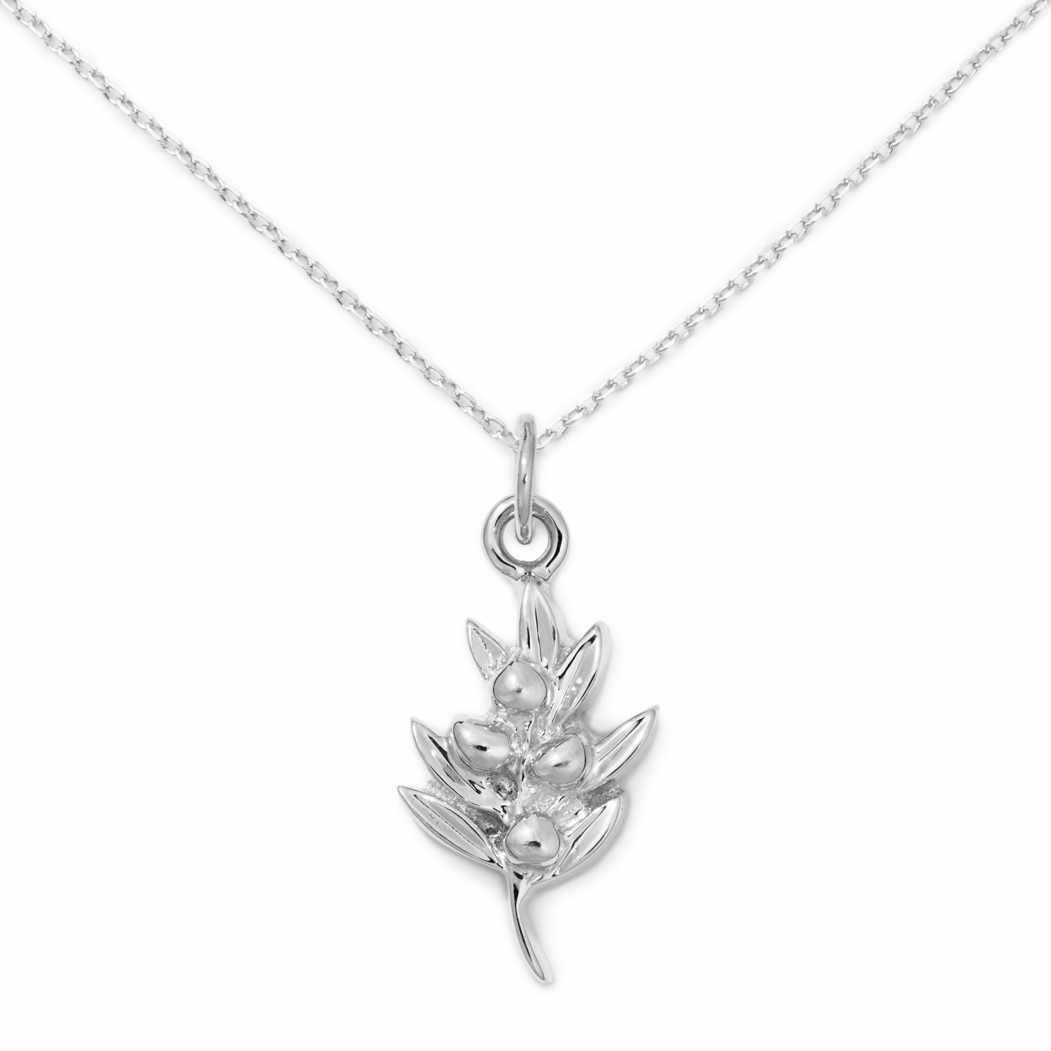 Sterling Silver Olive Necklace