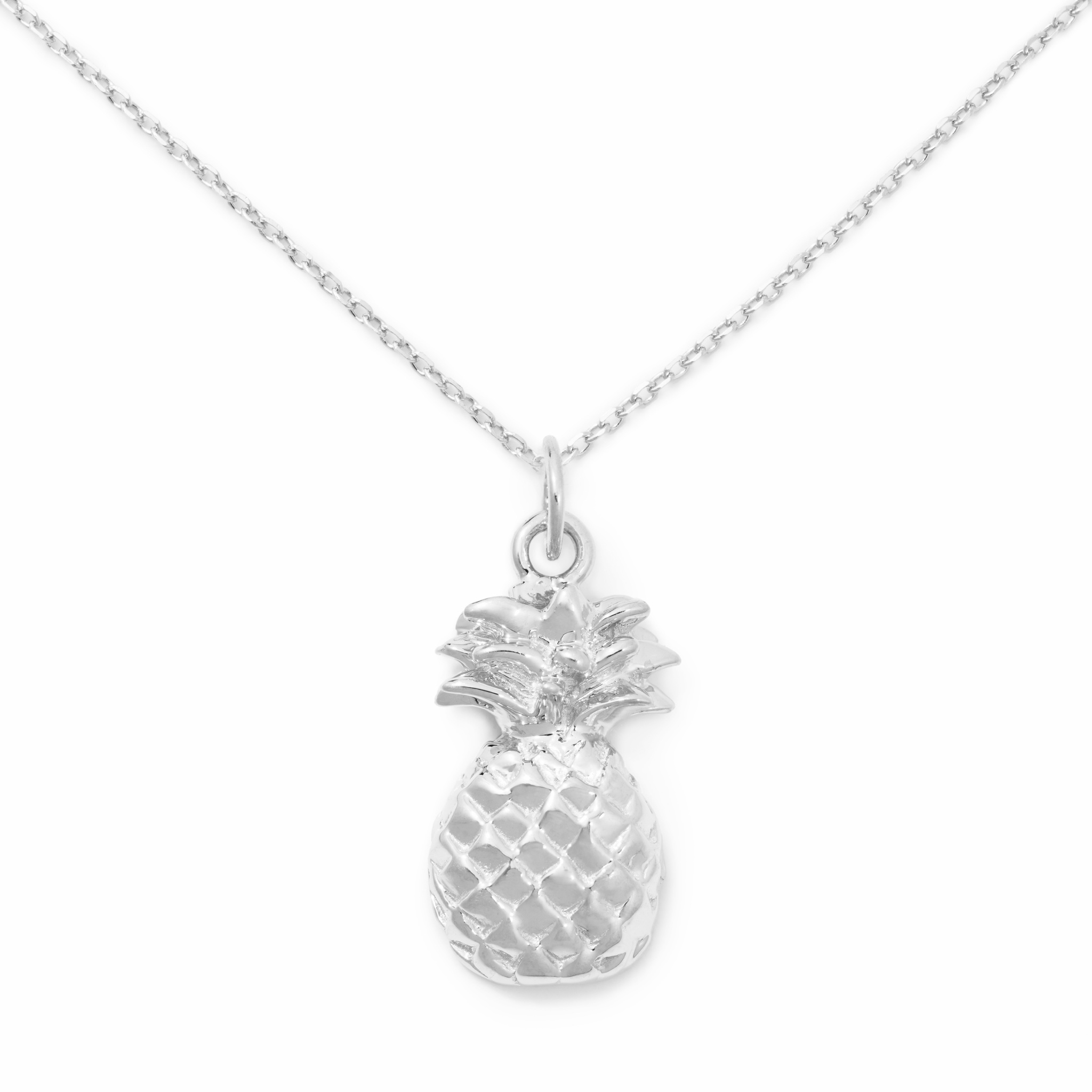 Pineapple Necklace, Sterling Silver