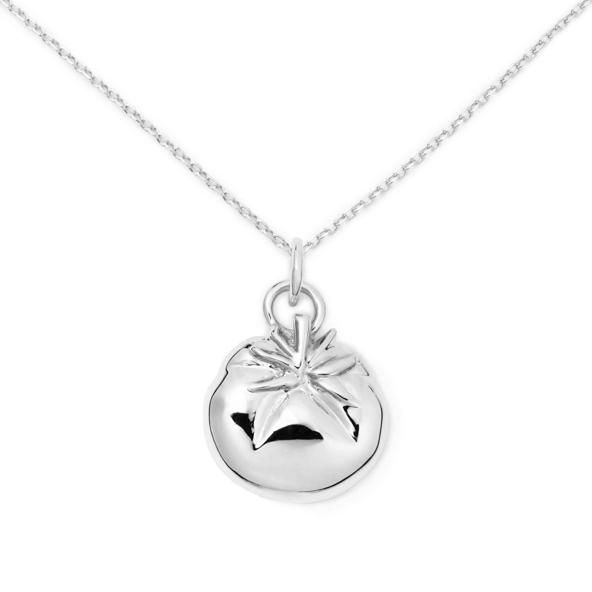 Tomato Necklace, Sterling Silver