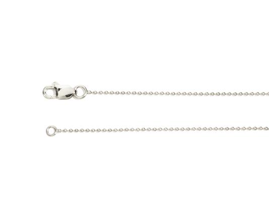 Adjustable 14K white gold ball chain