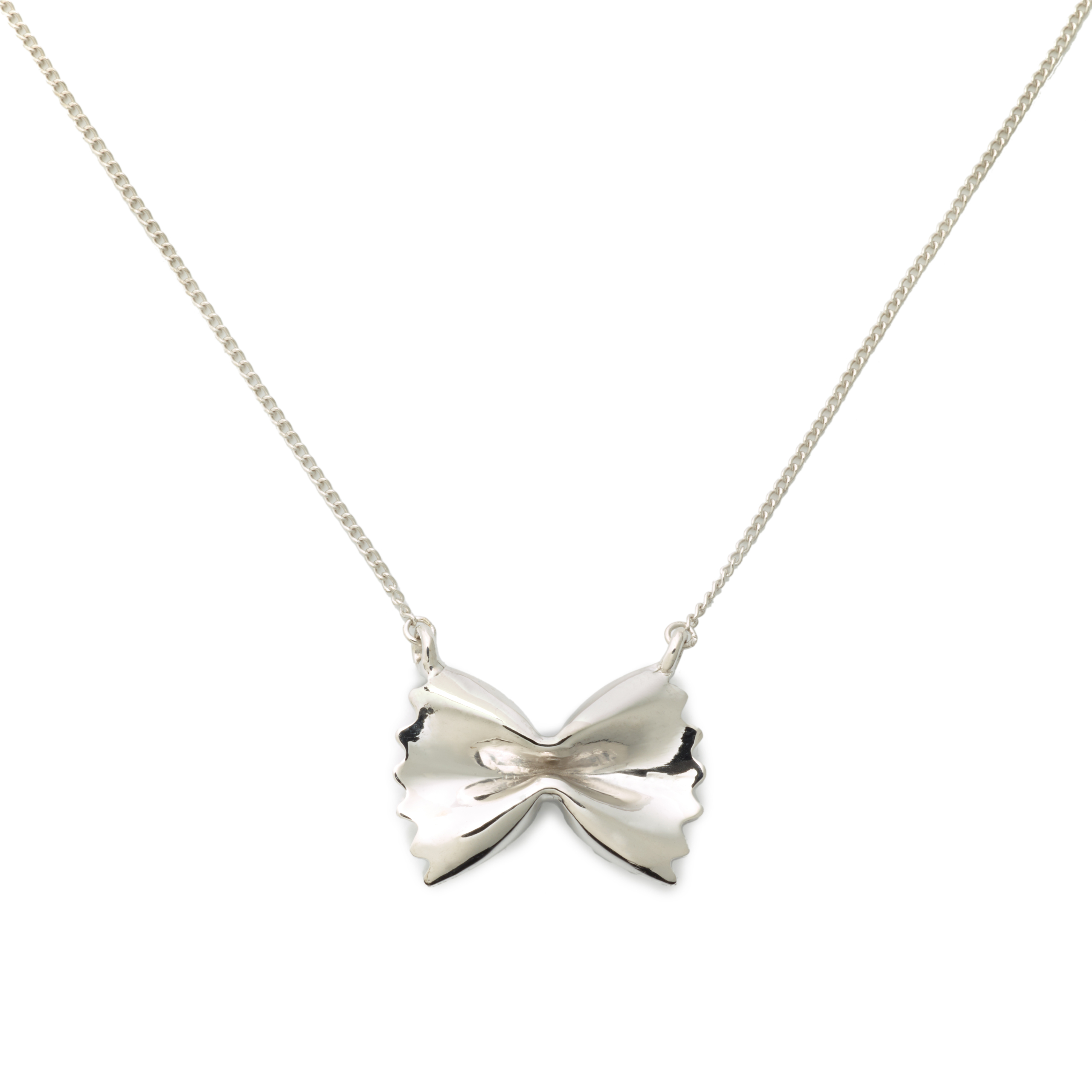 Farfalle Necklace, Sterling Silver