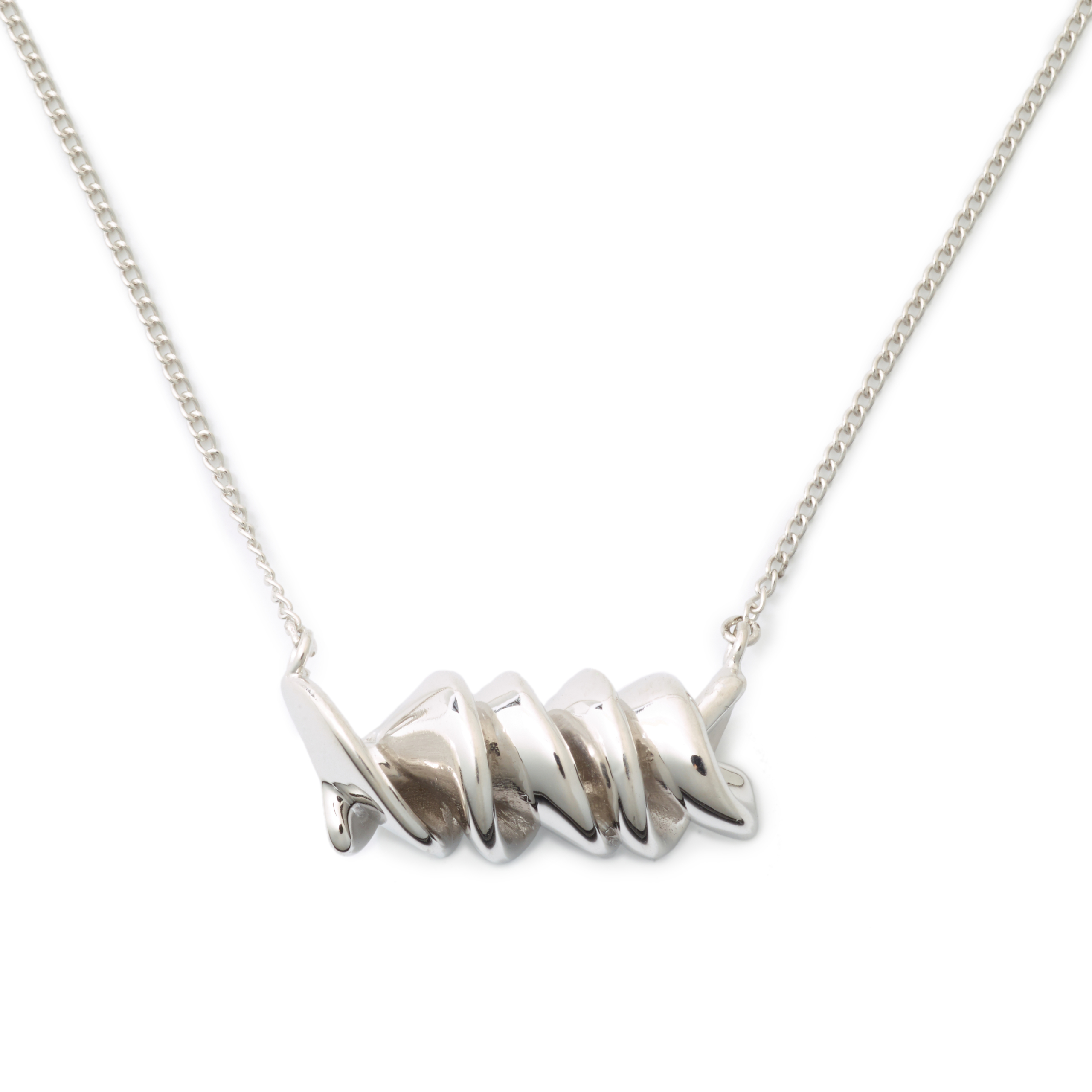 Rotini Necklace, Sterling Silver