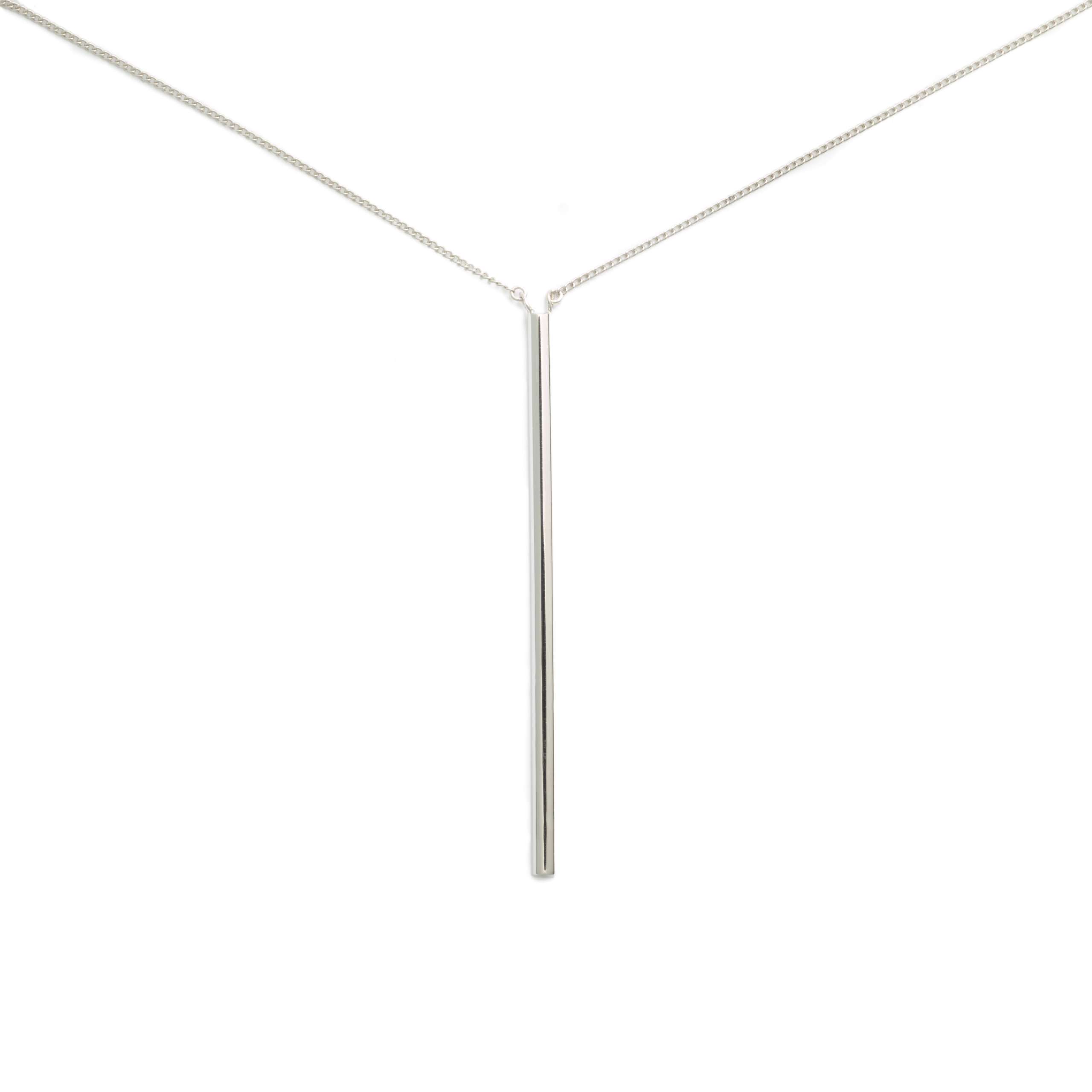 Bucatini Necklace, Sterling Silver