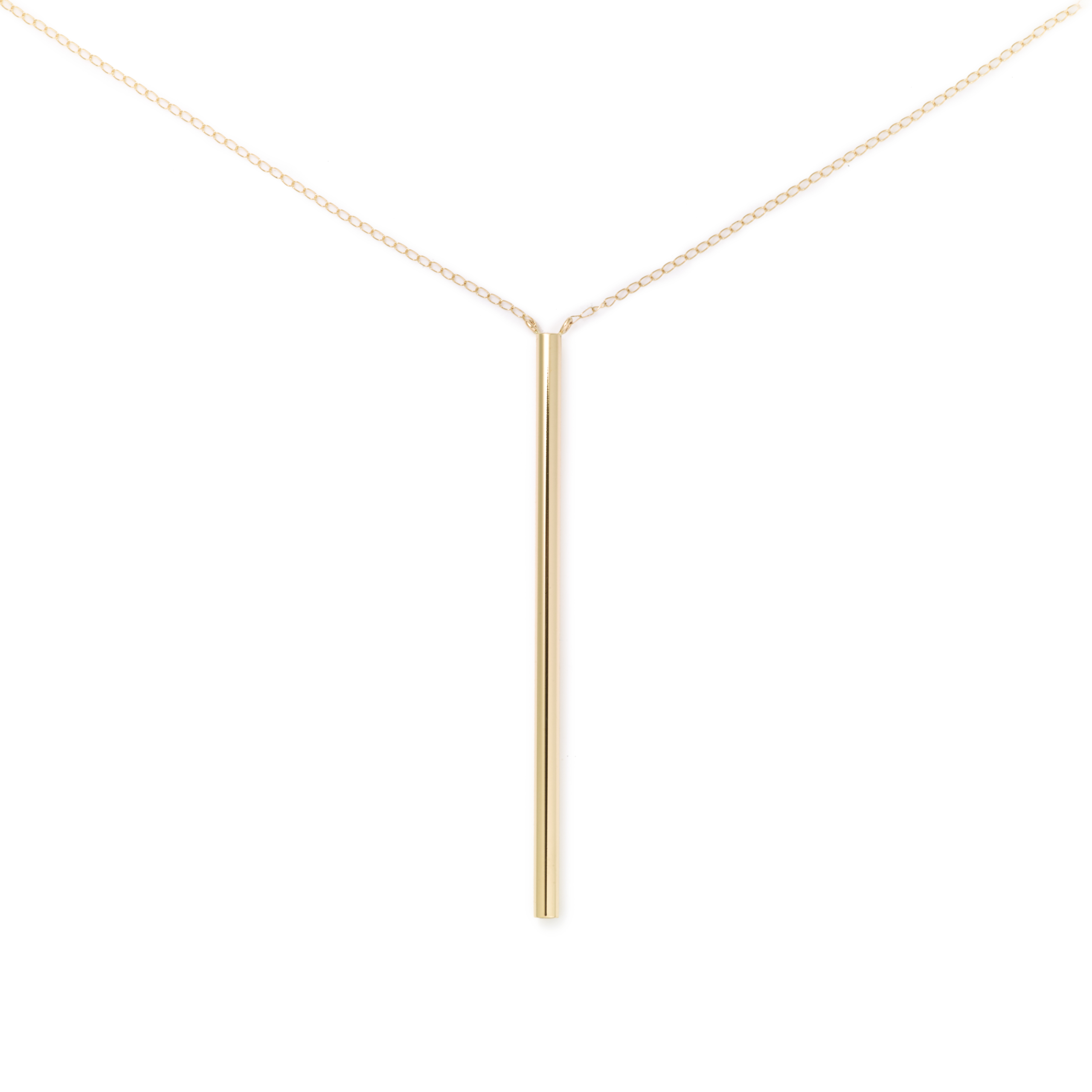 Bucatini Necklace, 14K Yellow Gold