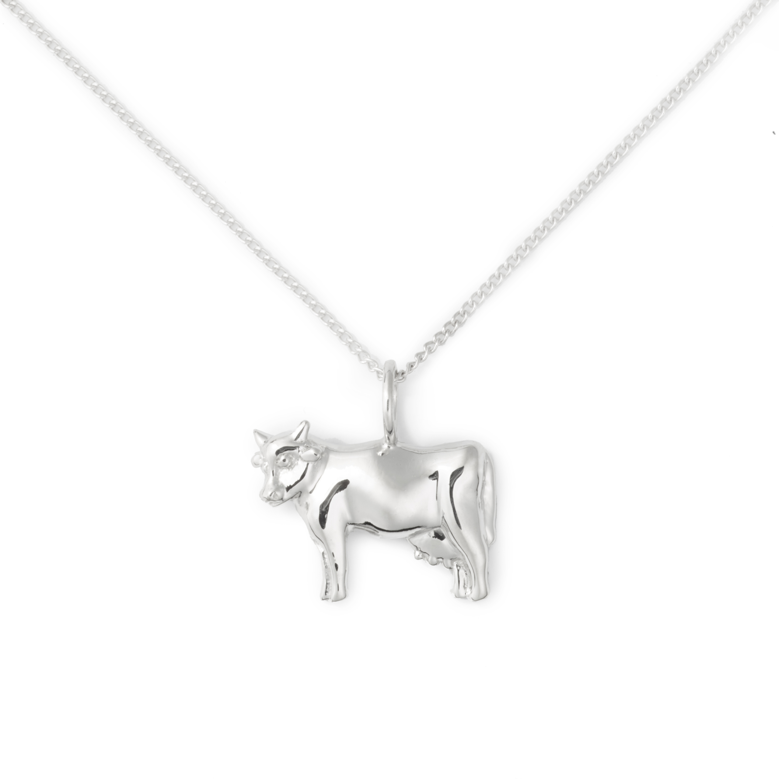 Cow Necklace, Sterling Silver