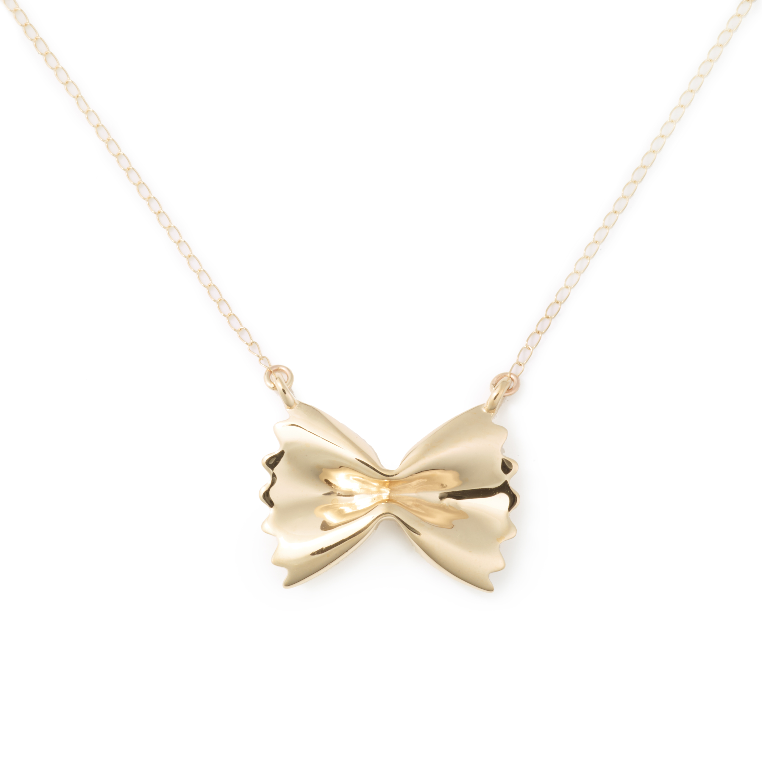 Gold Plated Farfalle Necklace