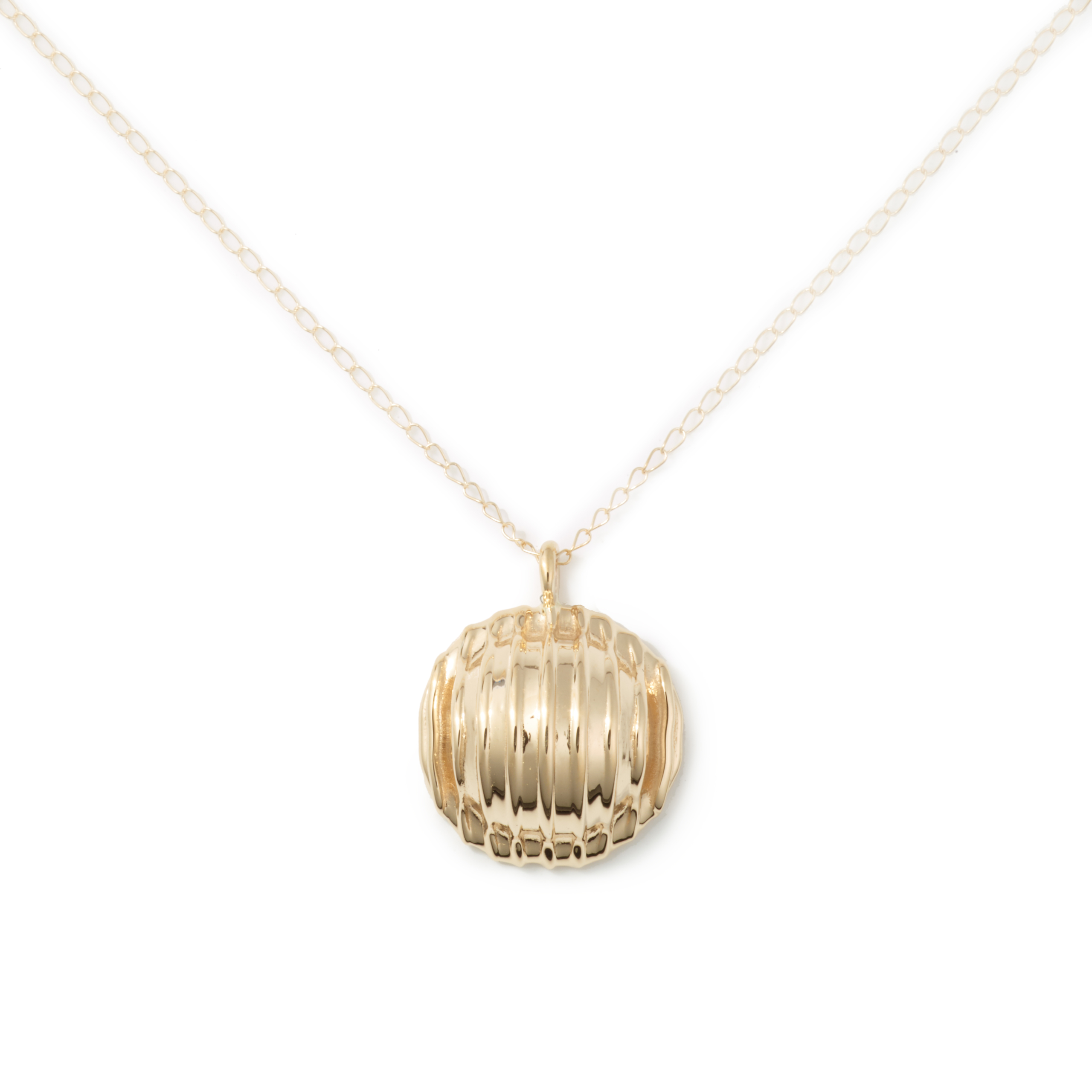 Yellow Gold Plated Orecchiette Necklace