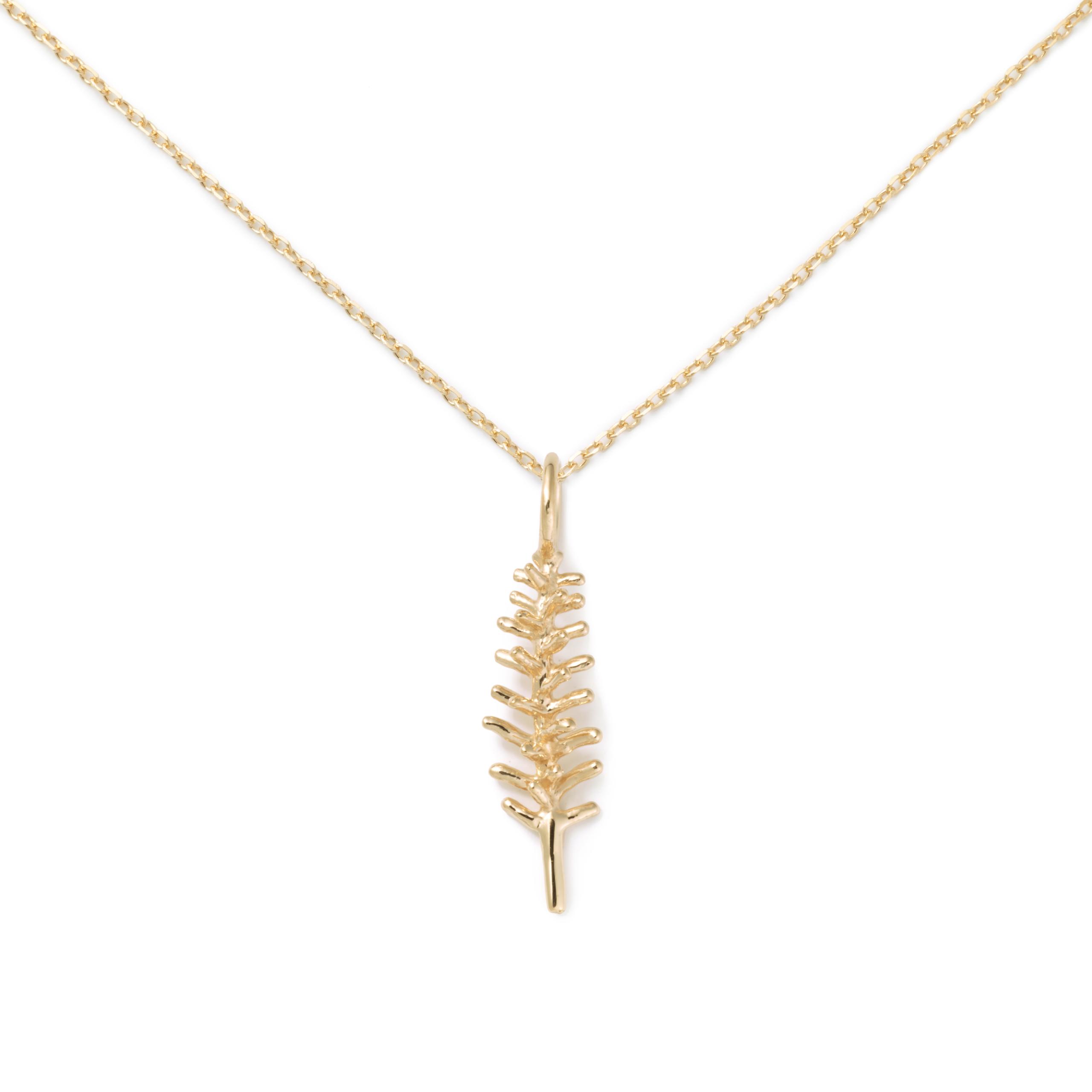 Rosemary Pendant, 14K Yellow Gold