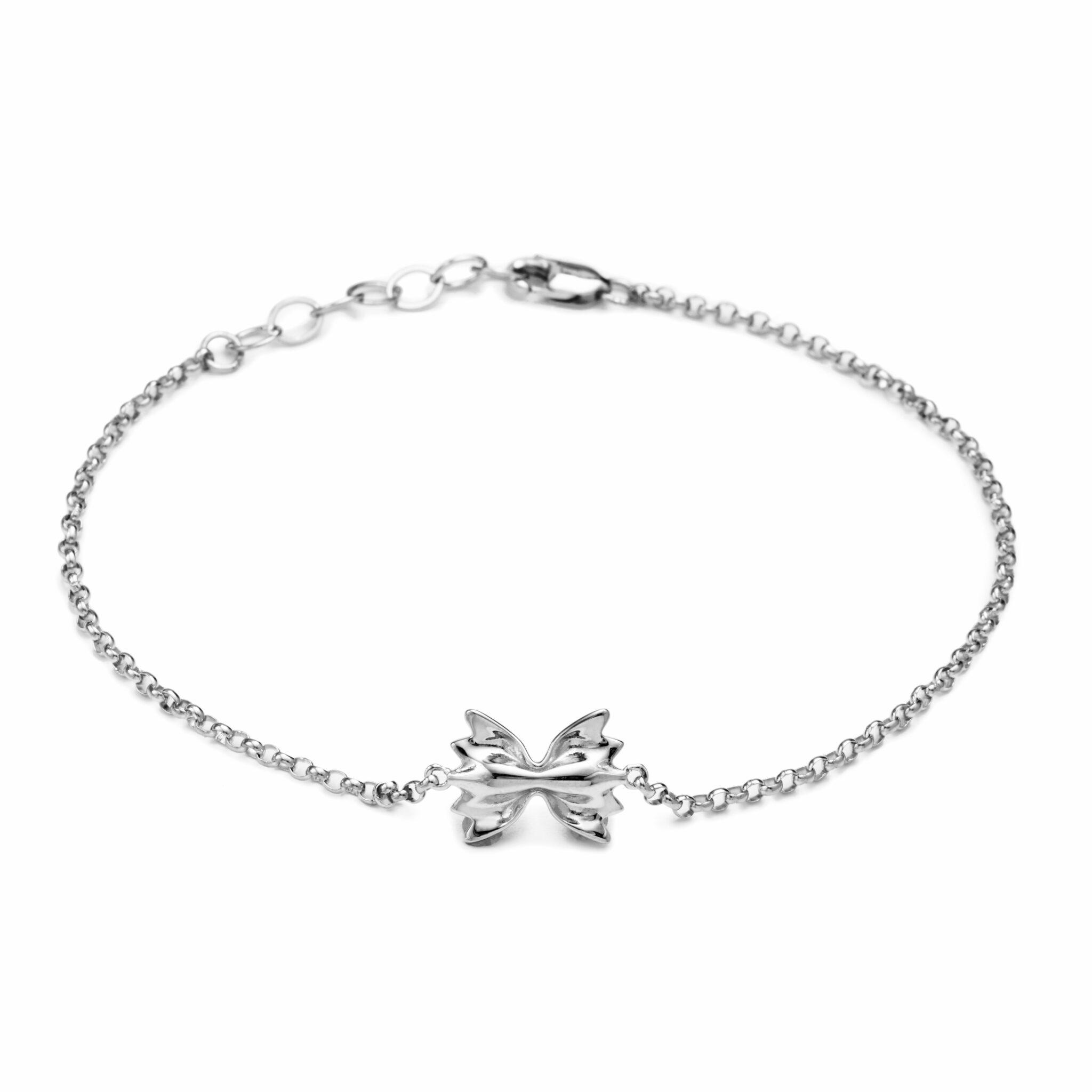 Farfalle Bracelet, Mini Size, Sterling Silver