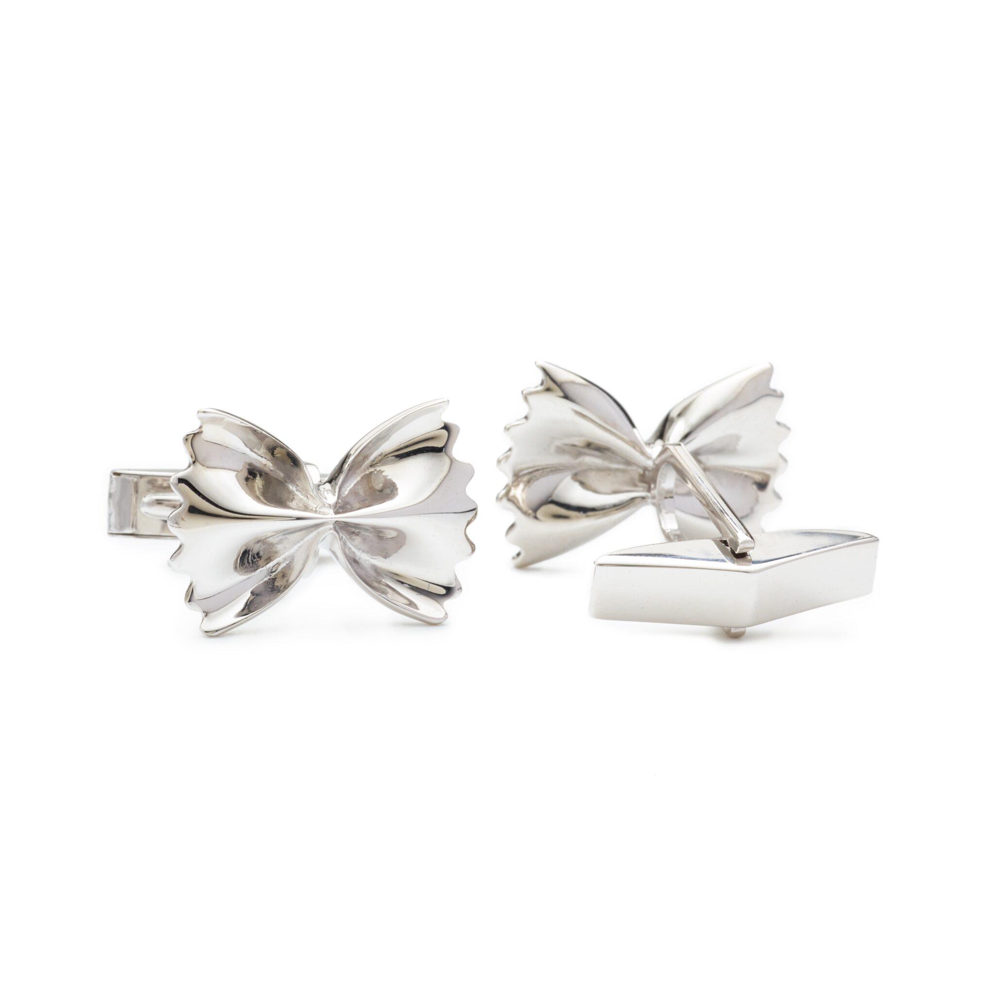 Farfalle Cufflinks, Sterling Silver