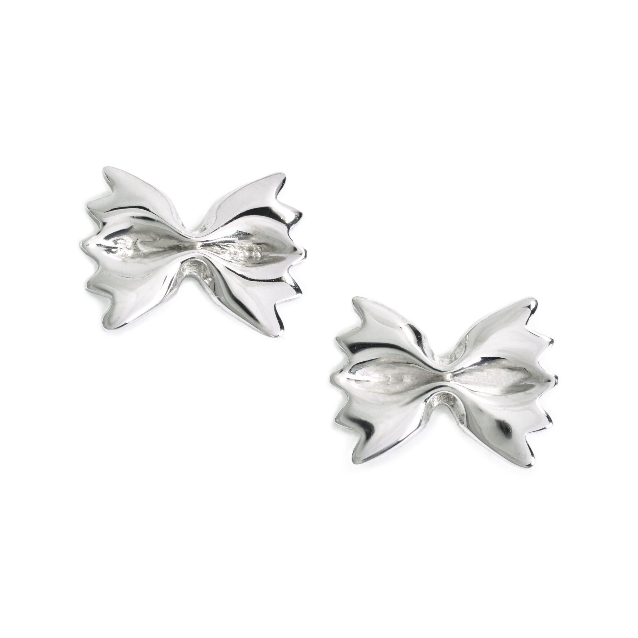 Farfalle Earrings, Sterling Silver