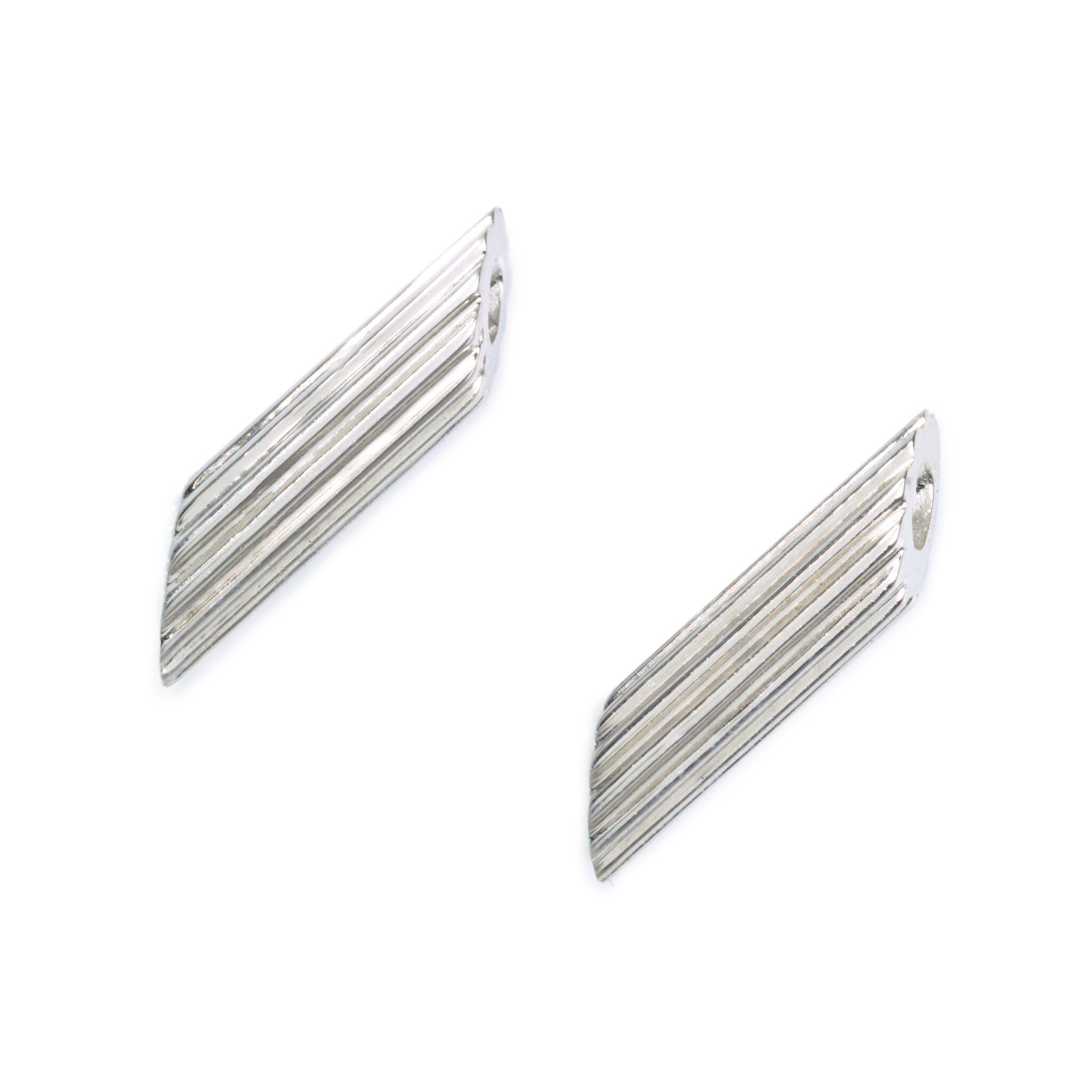 Penne Pasta Earrings, Sterling Silver
