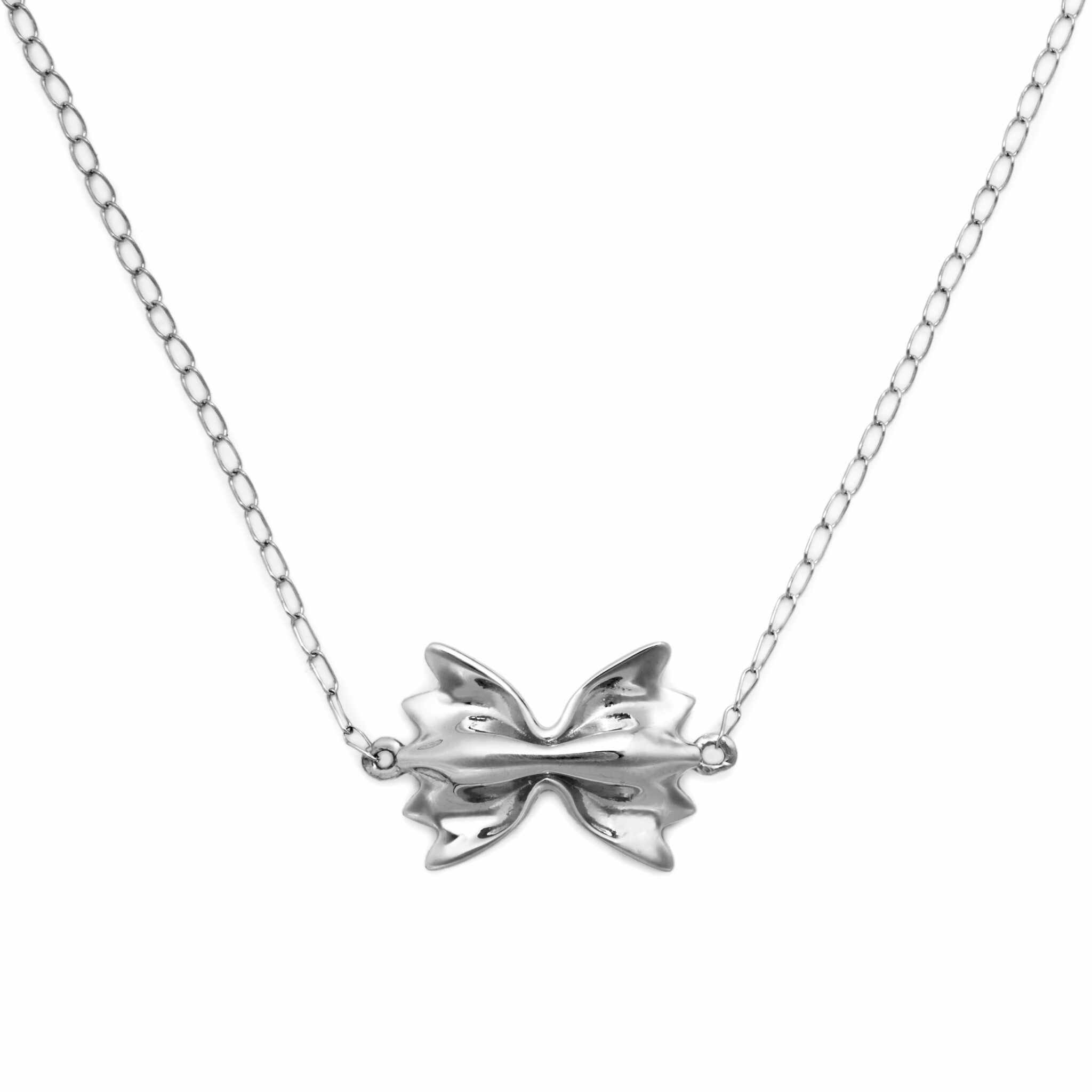 Farfalle Necklace, Mini Size, Sterling Silver