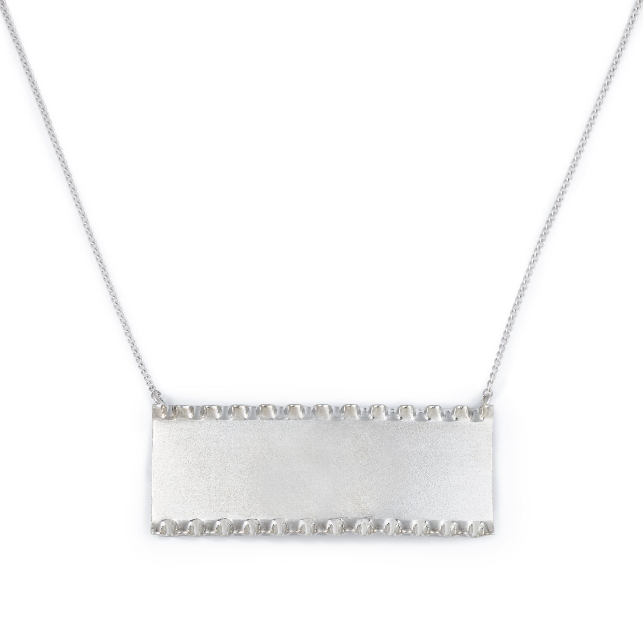 Lasagna Bar Necklace, Sterling Silver
