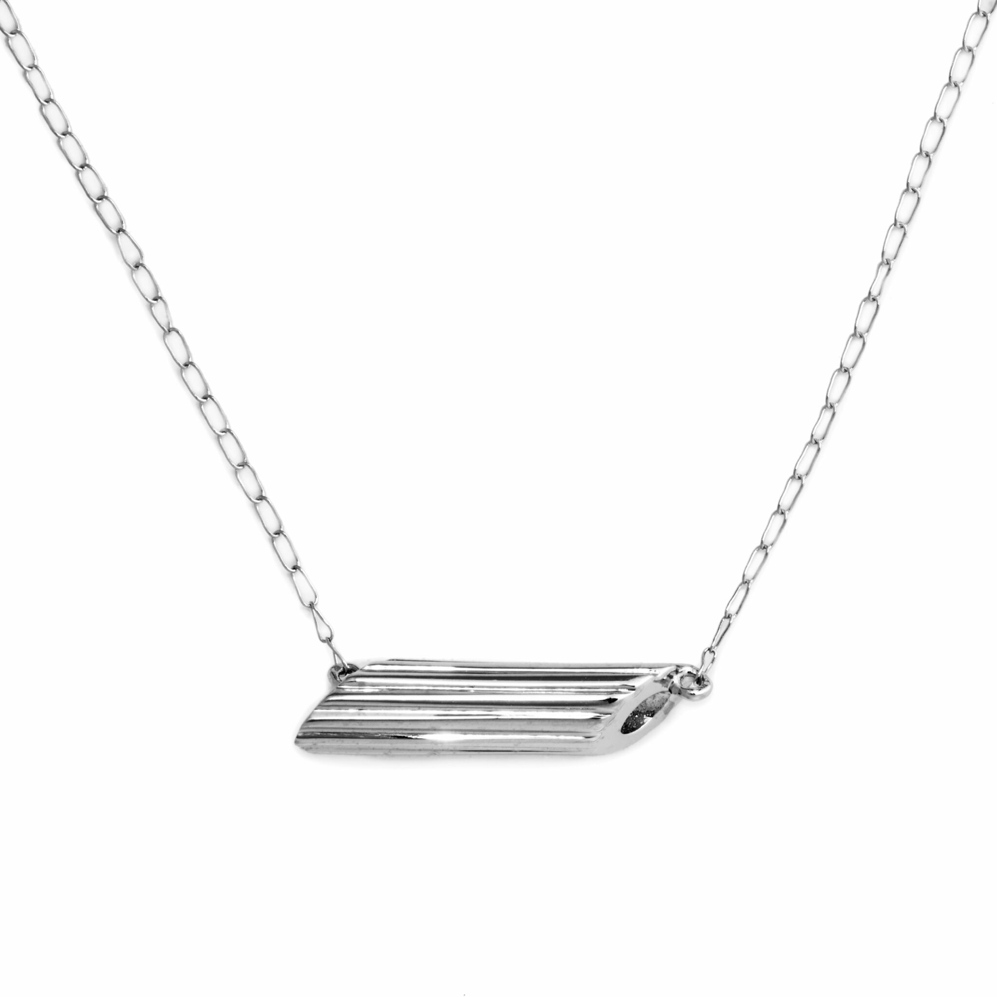 Penne Necklace, Mini Size, Sterling Silver