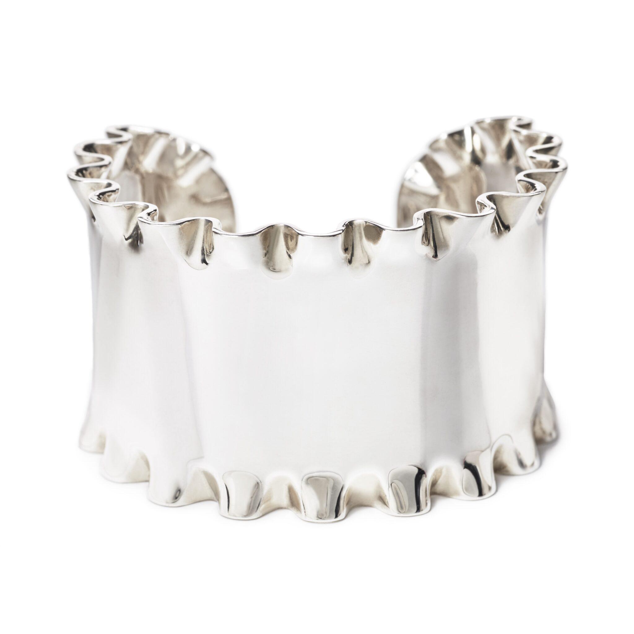 Lasagna Cuff Bracelet, Sterling Silver