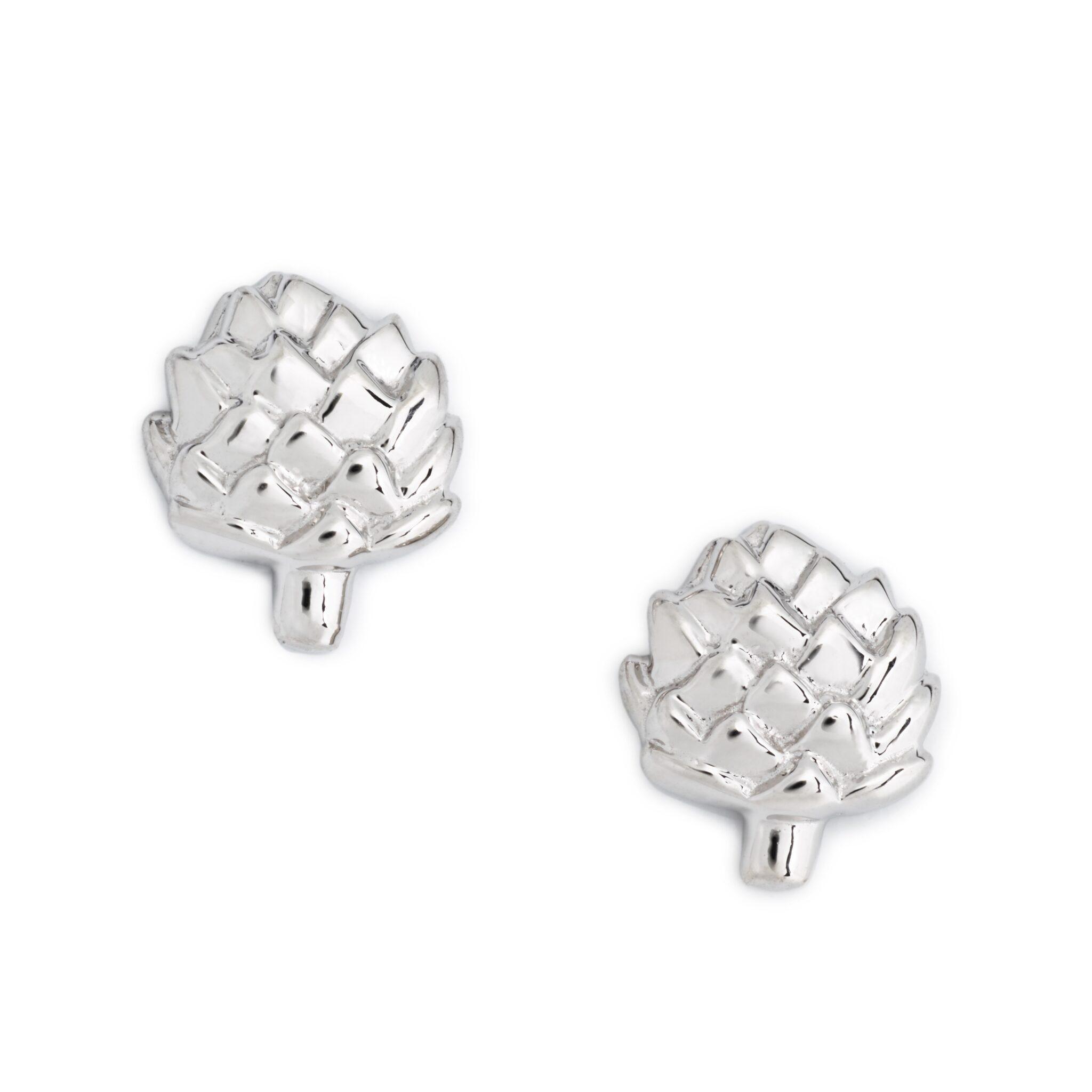 Artichoke Earrings, Sterling Silver
