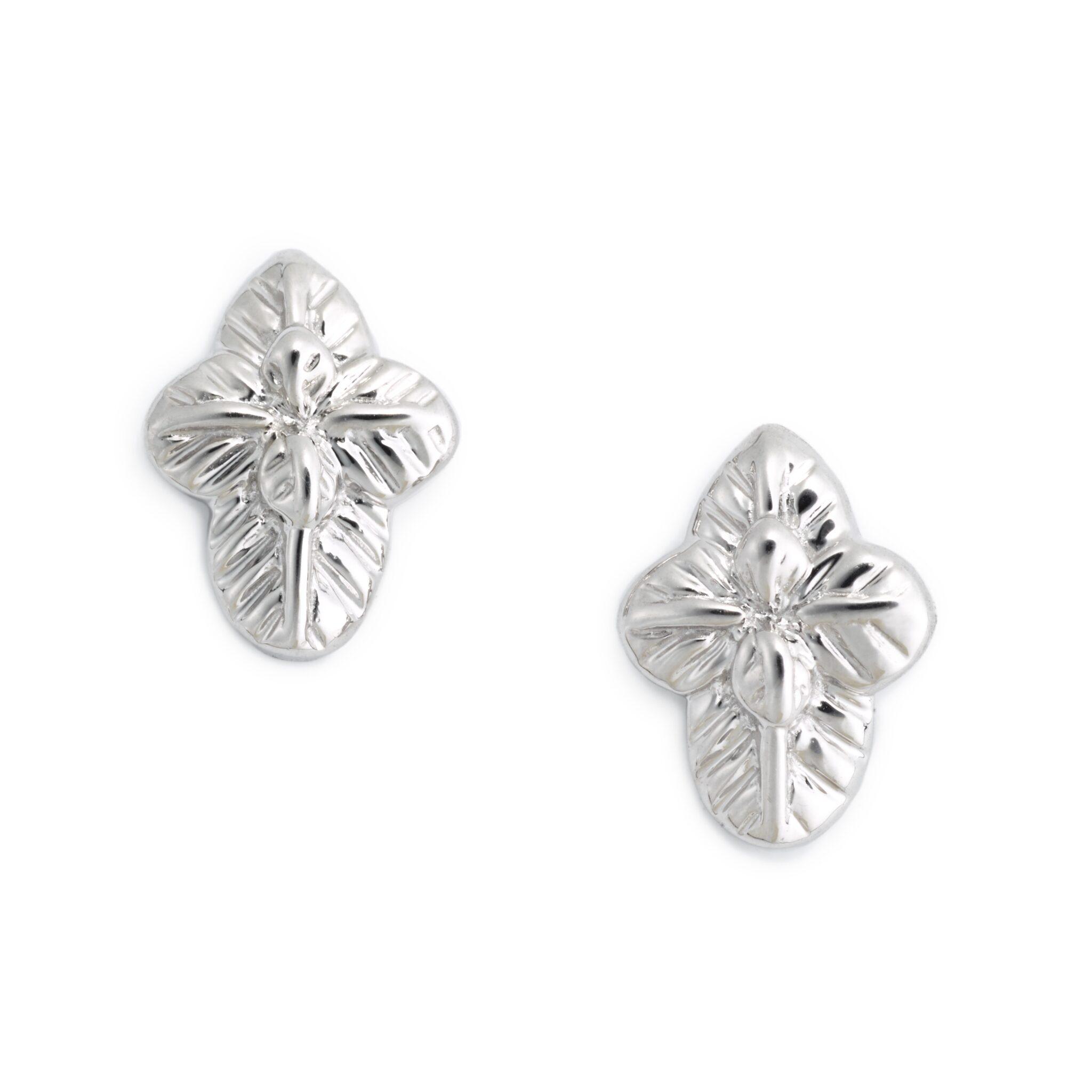Basil Earrings, Sterling Silver