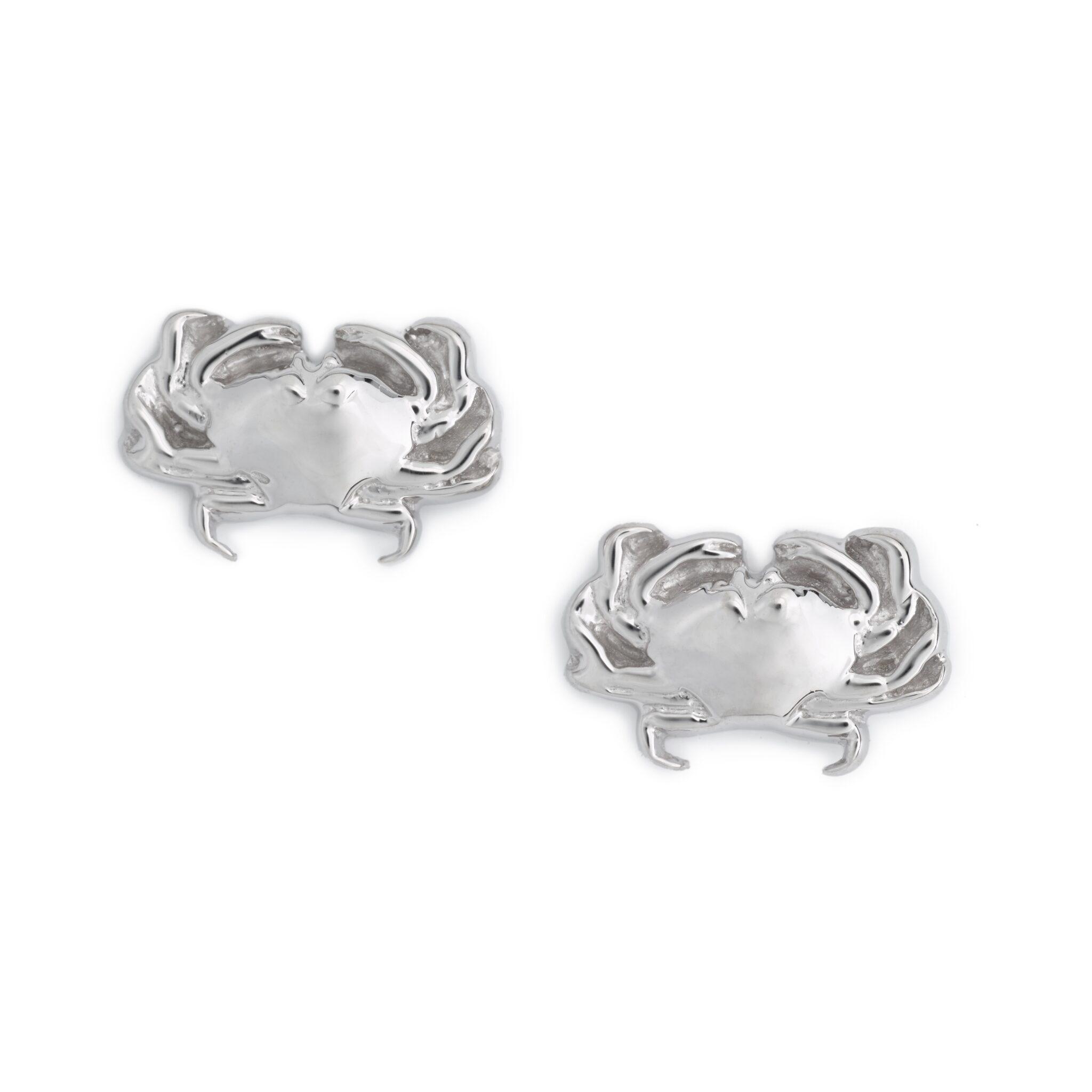Crab Earrings, Sterling Silver