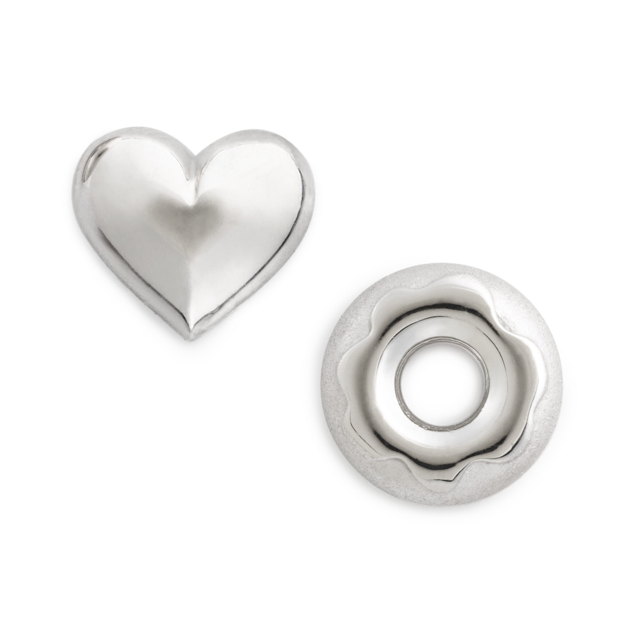 I Love Glaze Earring Set (mismatched pair), Sterling Silver