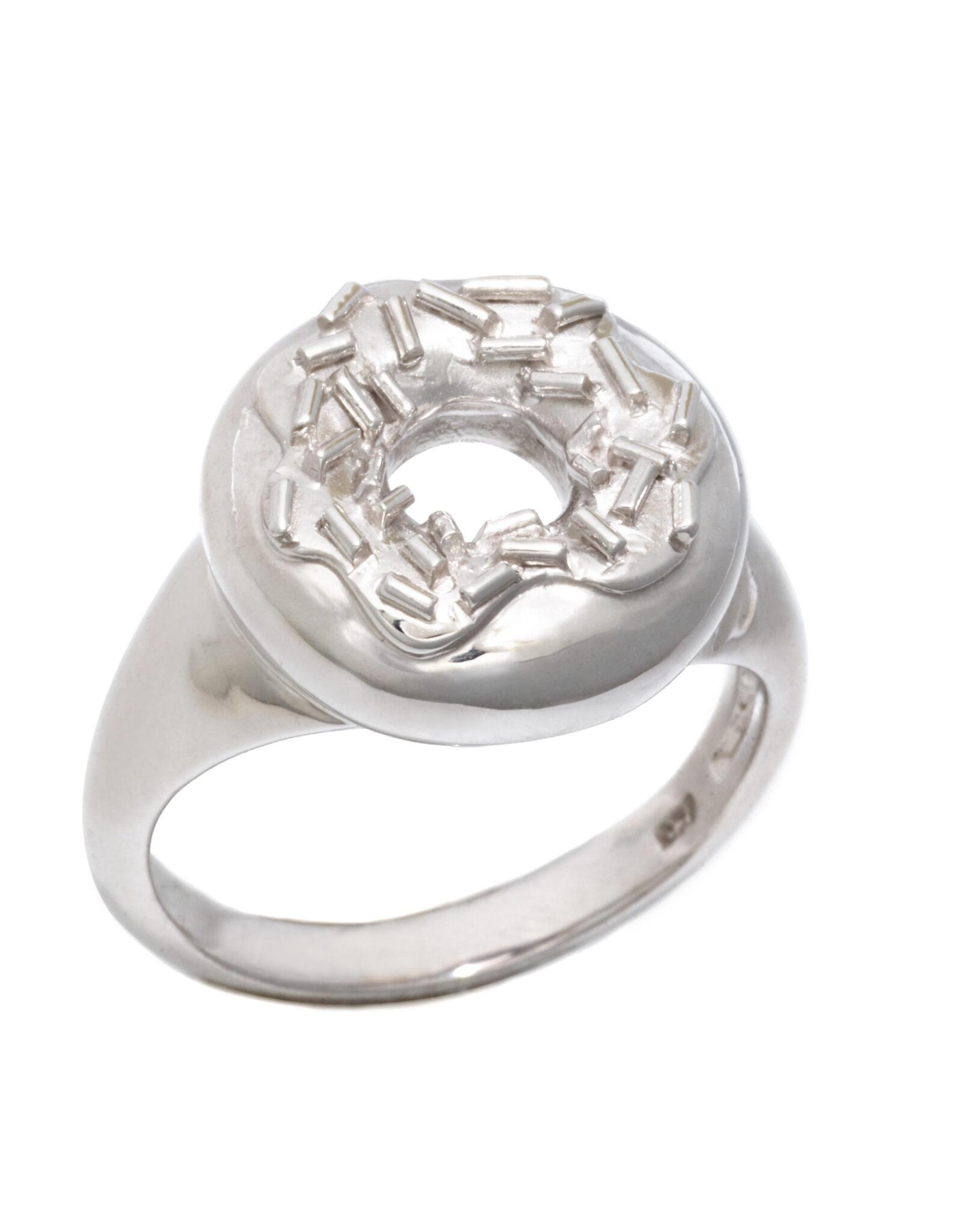Sprinkle Doughnut Ring, Sterling Silver