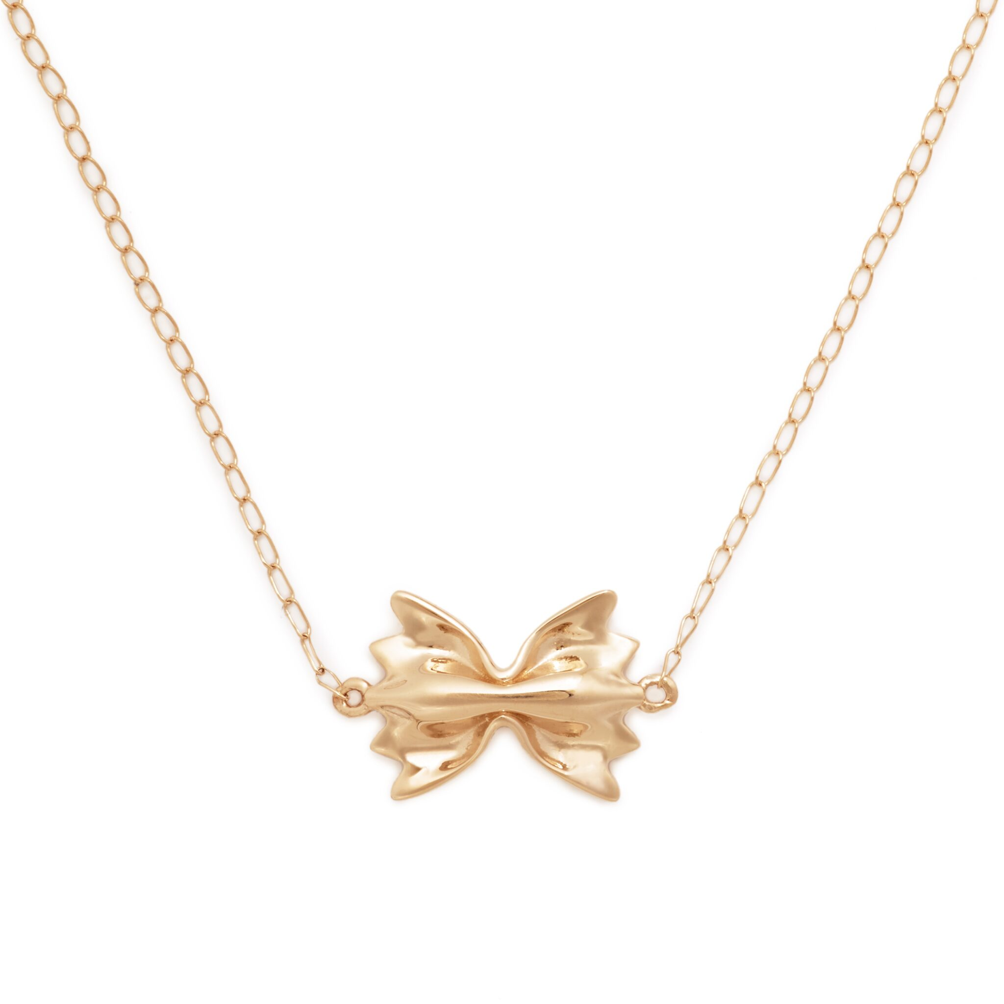 Farfalle Necklace, Mini Size, Yellow Gold Plated