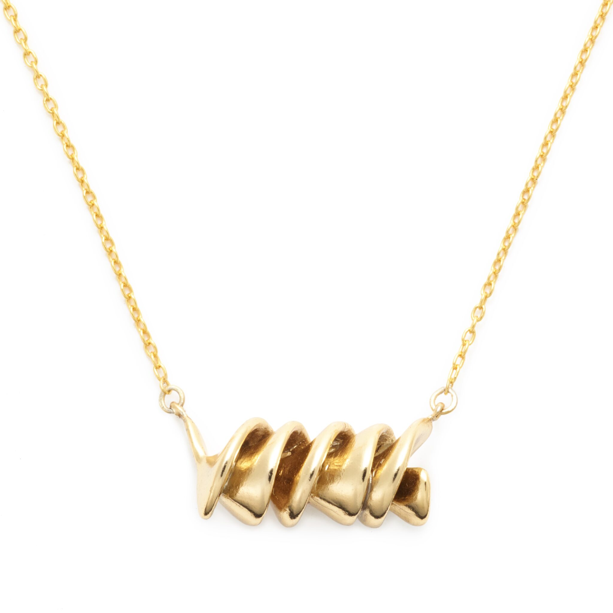 Gold Plated Rotini Necklace