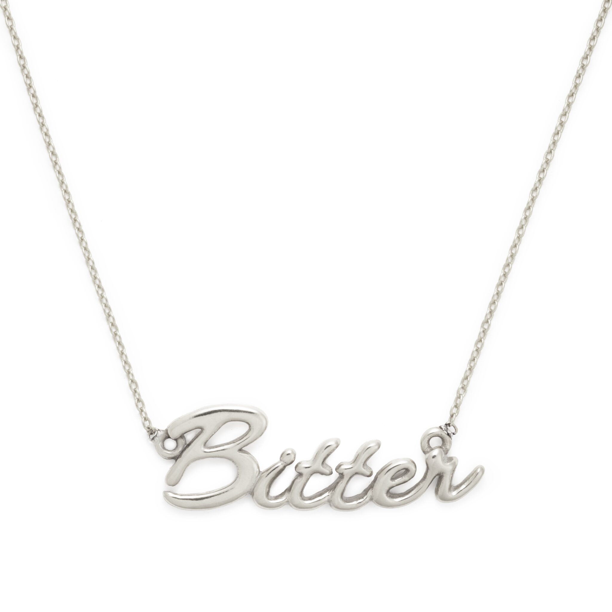 Bitter Necklace, Sterling Silver