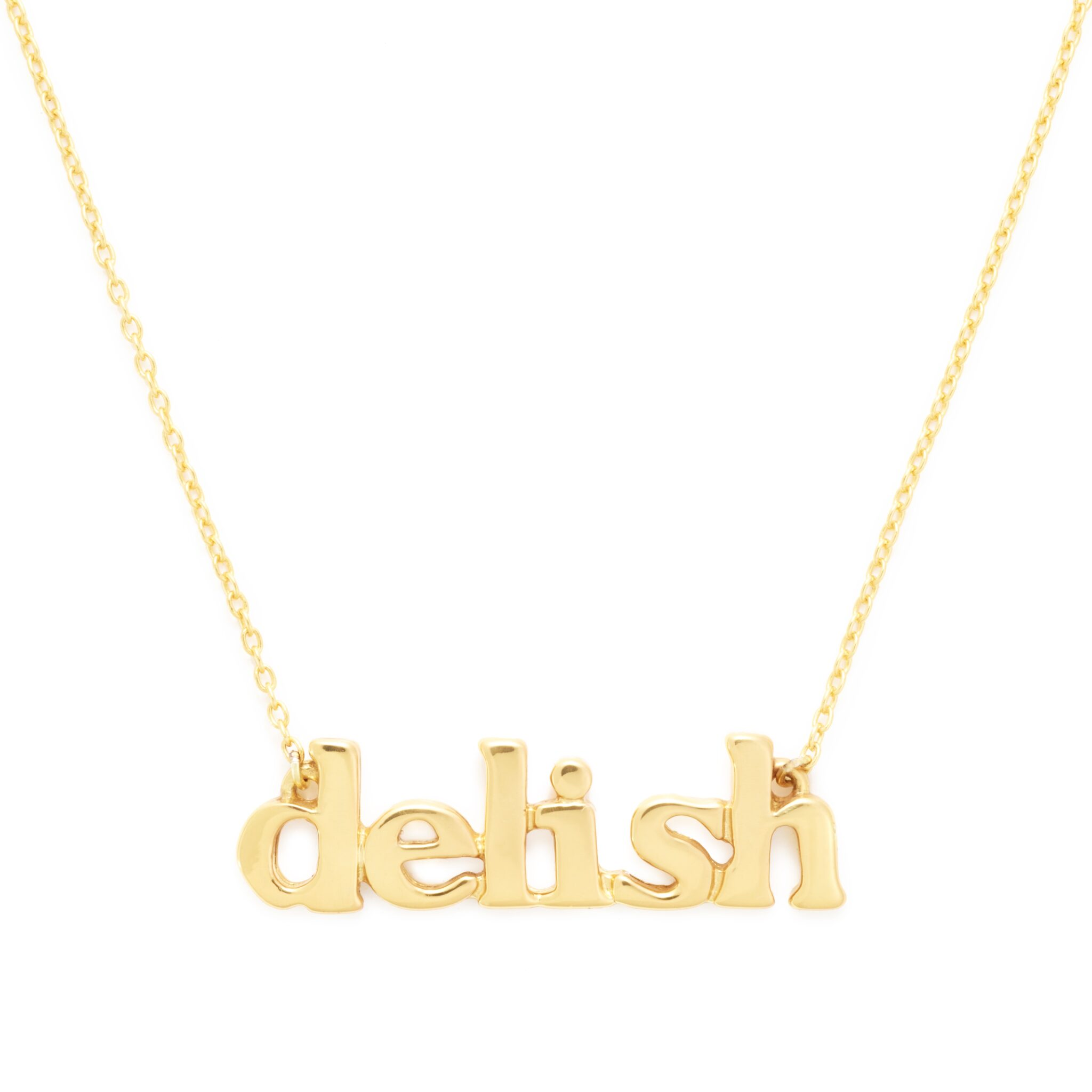 Yellow Gold Plated Delish Necklace