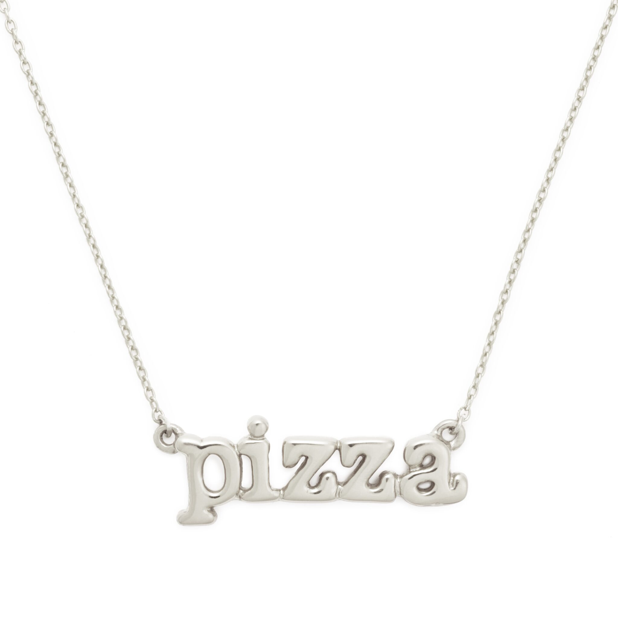 Sterling Silver Pizza Necklace