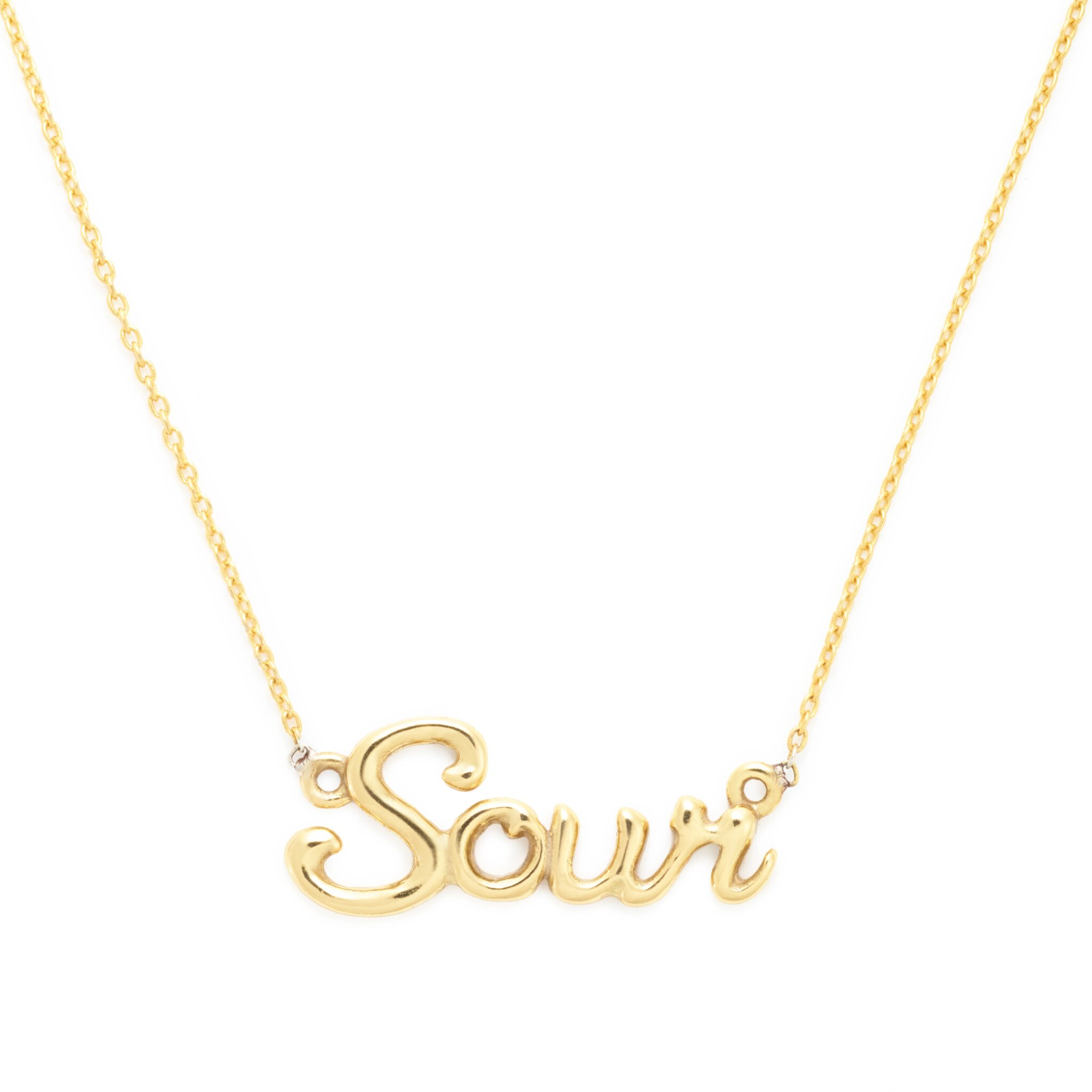 Sour Necklace, Yellow Gold Plated