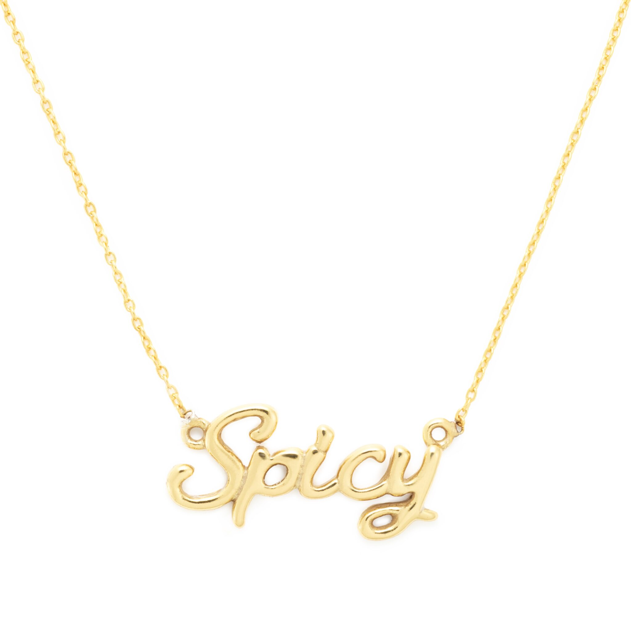 Yellow Gold Plated Spicy Necklace