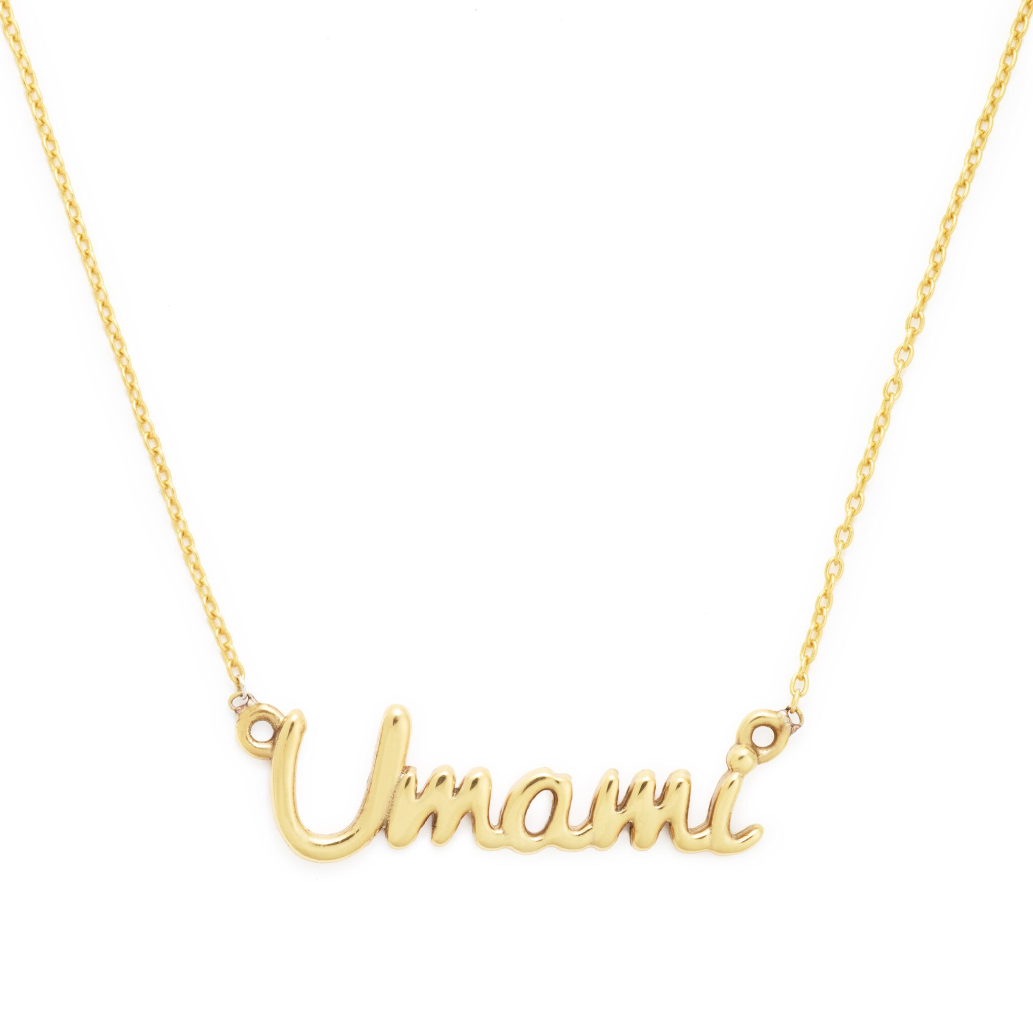 Yellow Gold Plated Umami Necklace