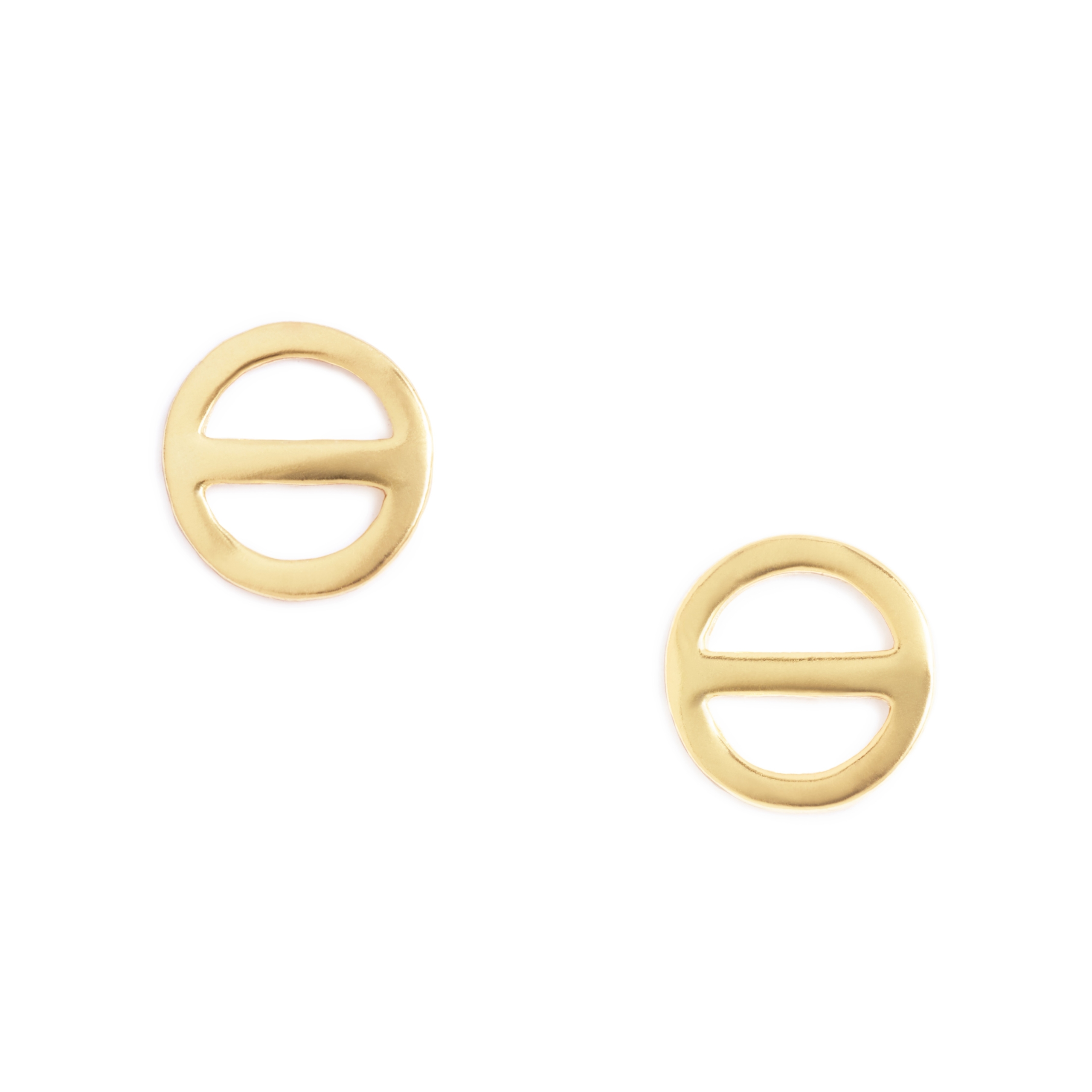 Yellow Gold Plated Salt Symbol Earrings