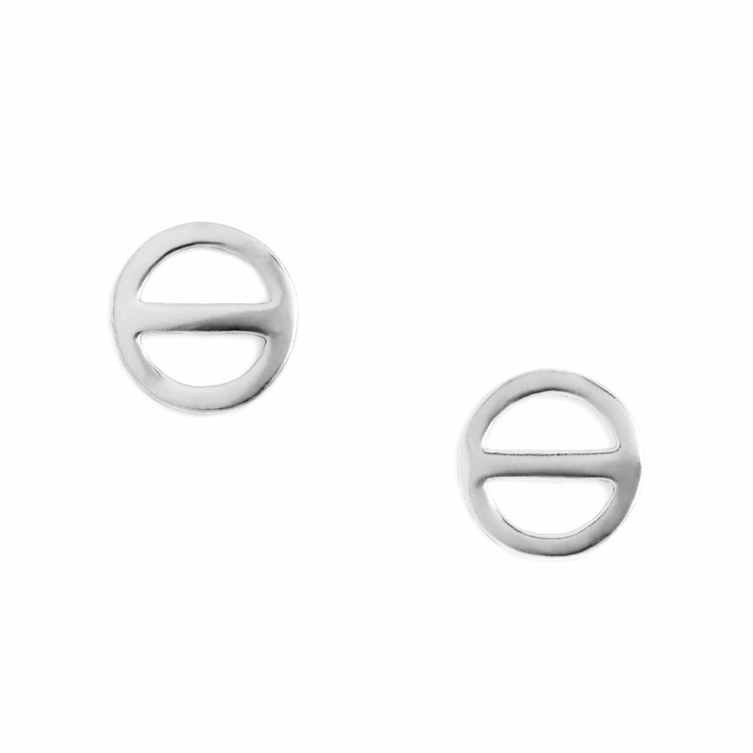 Salt Symbol Earrings, Sterling Silver