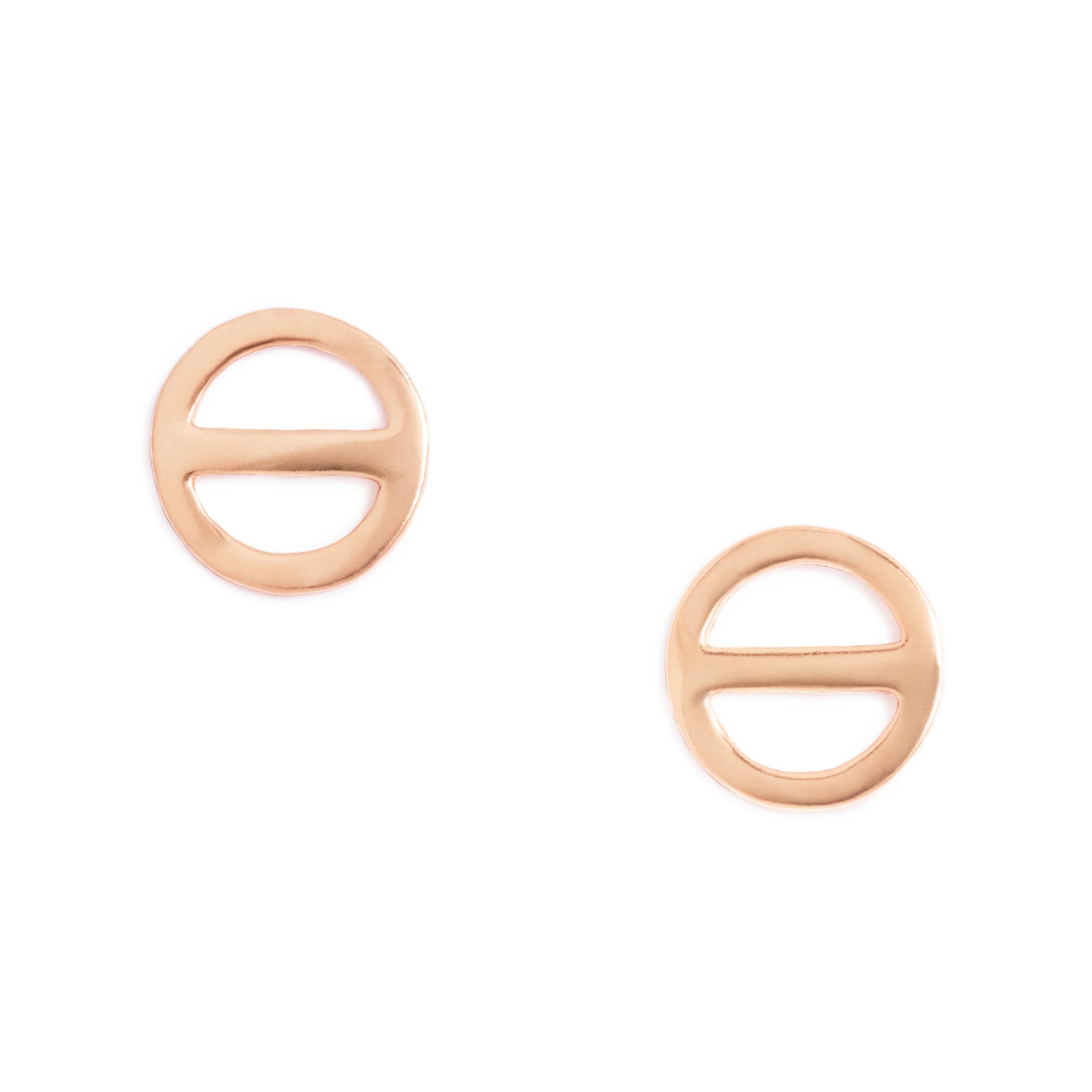 Rose Gold Plated Salt Symbol Earrings