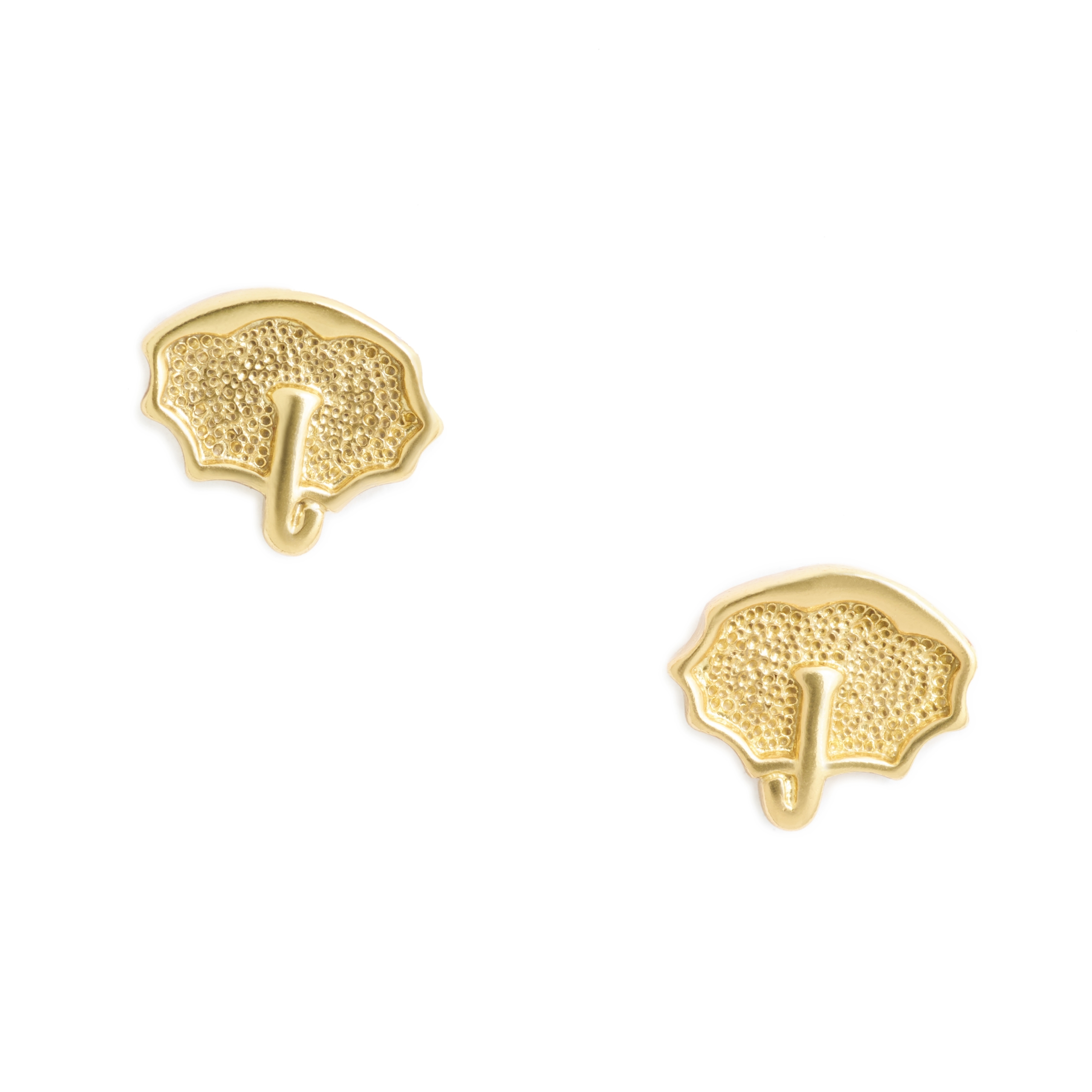 Umbrella Earrings, Yellow Gold Plated