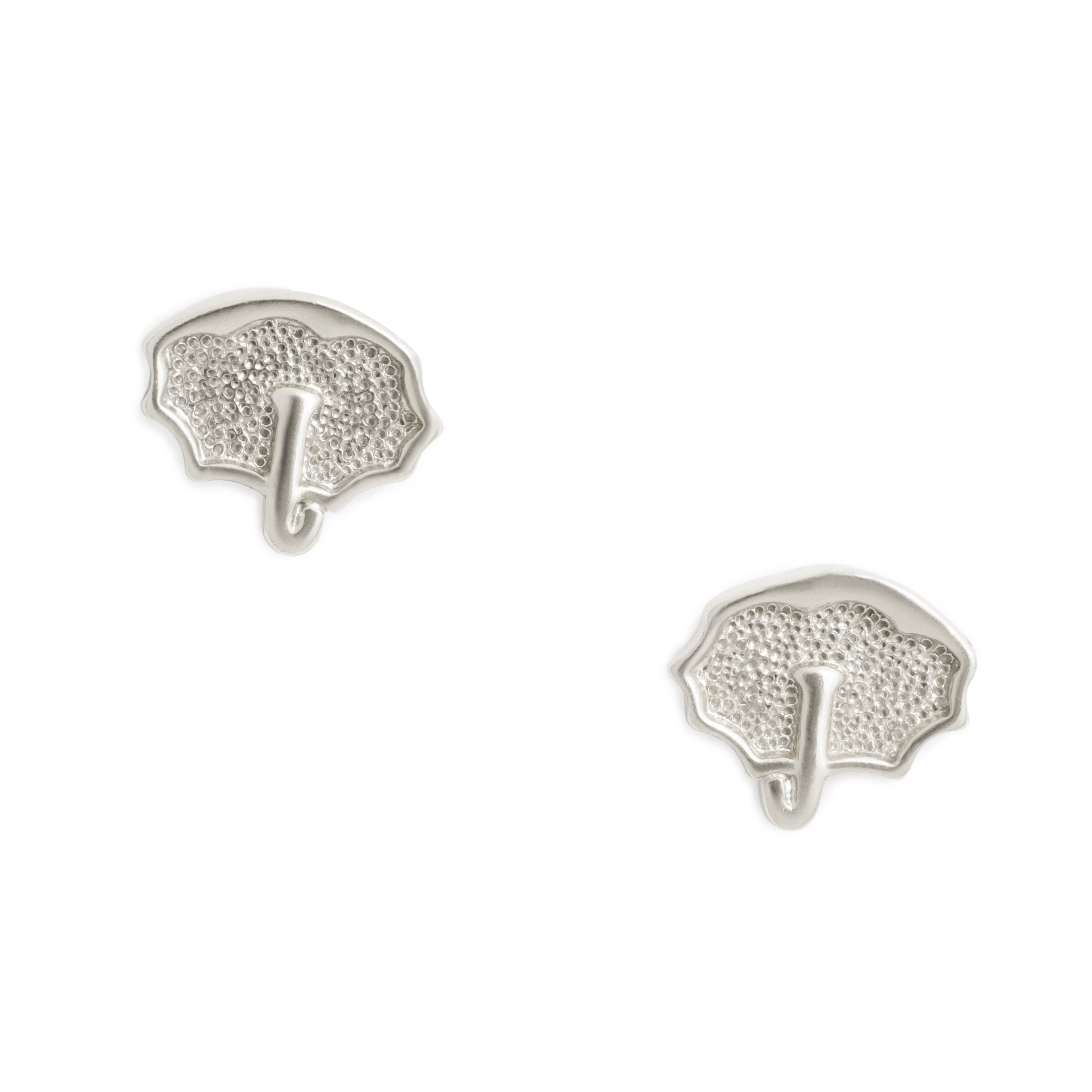 Umbrella Earrings, Sterling Silver