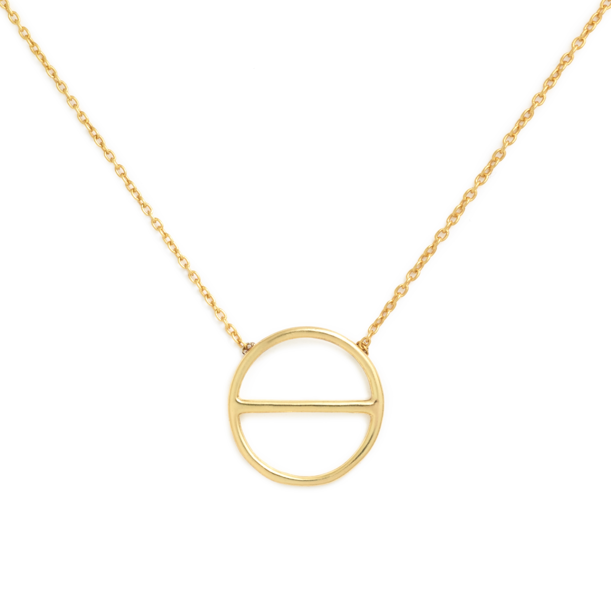 Yellow Gold Plated Salt Symbol Necklace (Small)