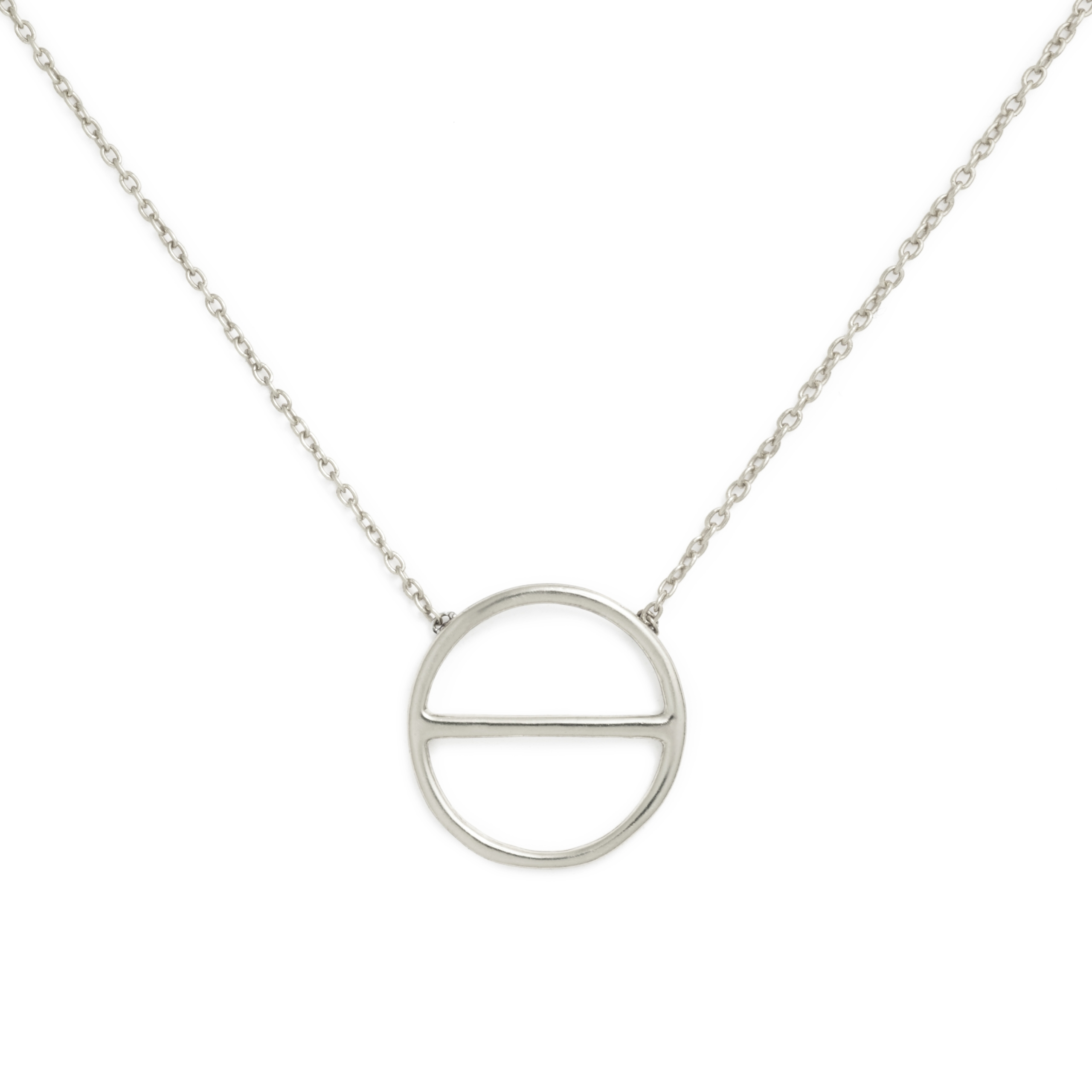 Sterling Silver Salt Symbol Necklace (Small)