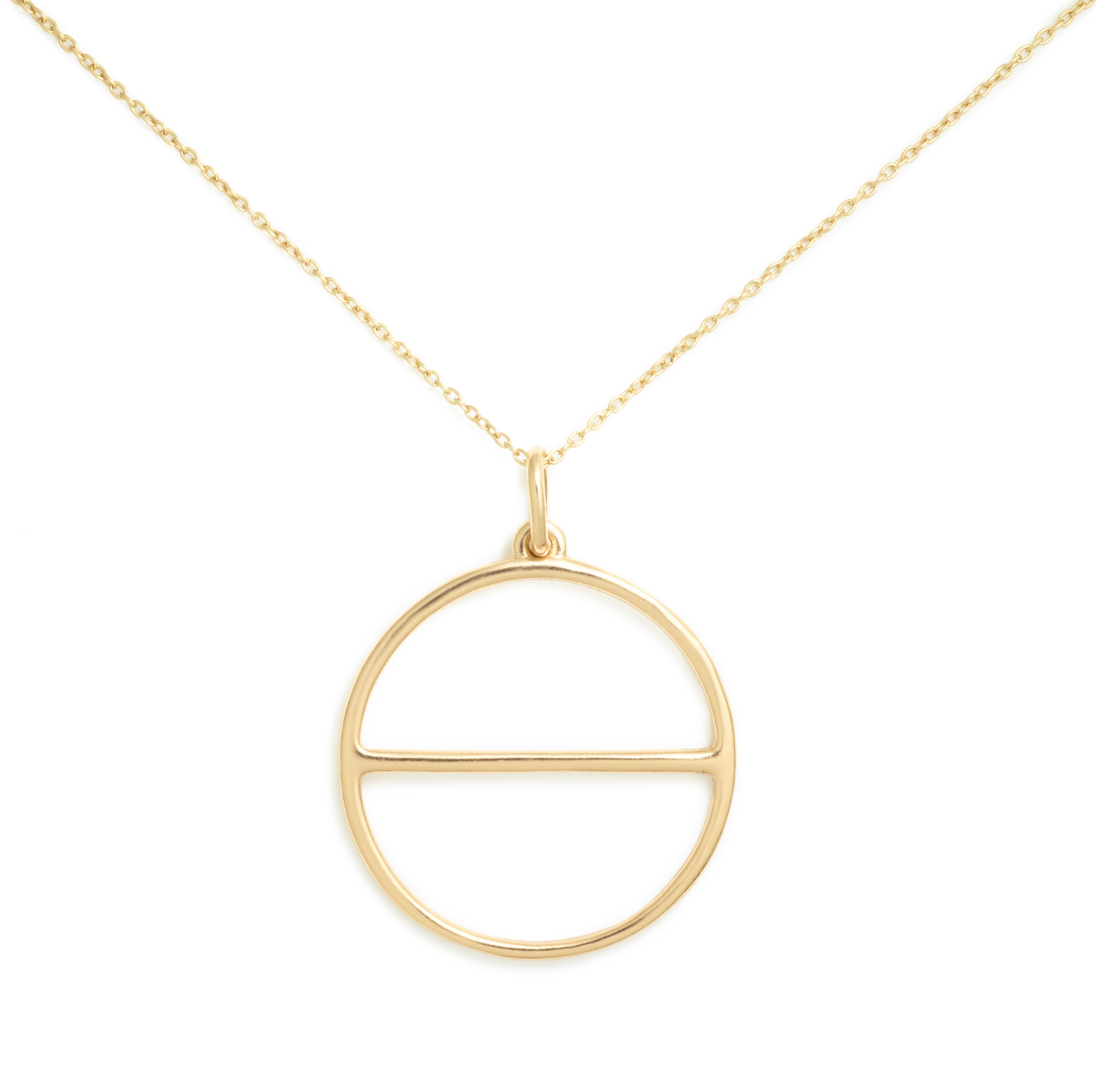 Yellow Gold Plated Salt Symbol Necklace (Large)