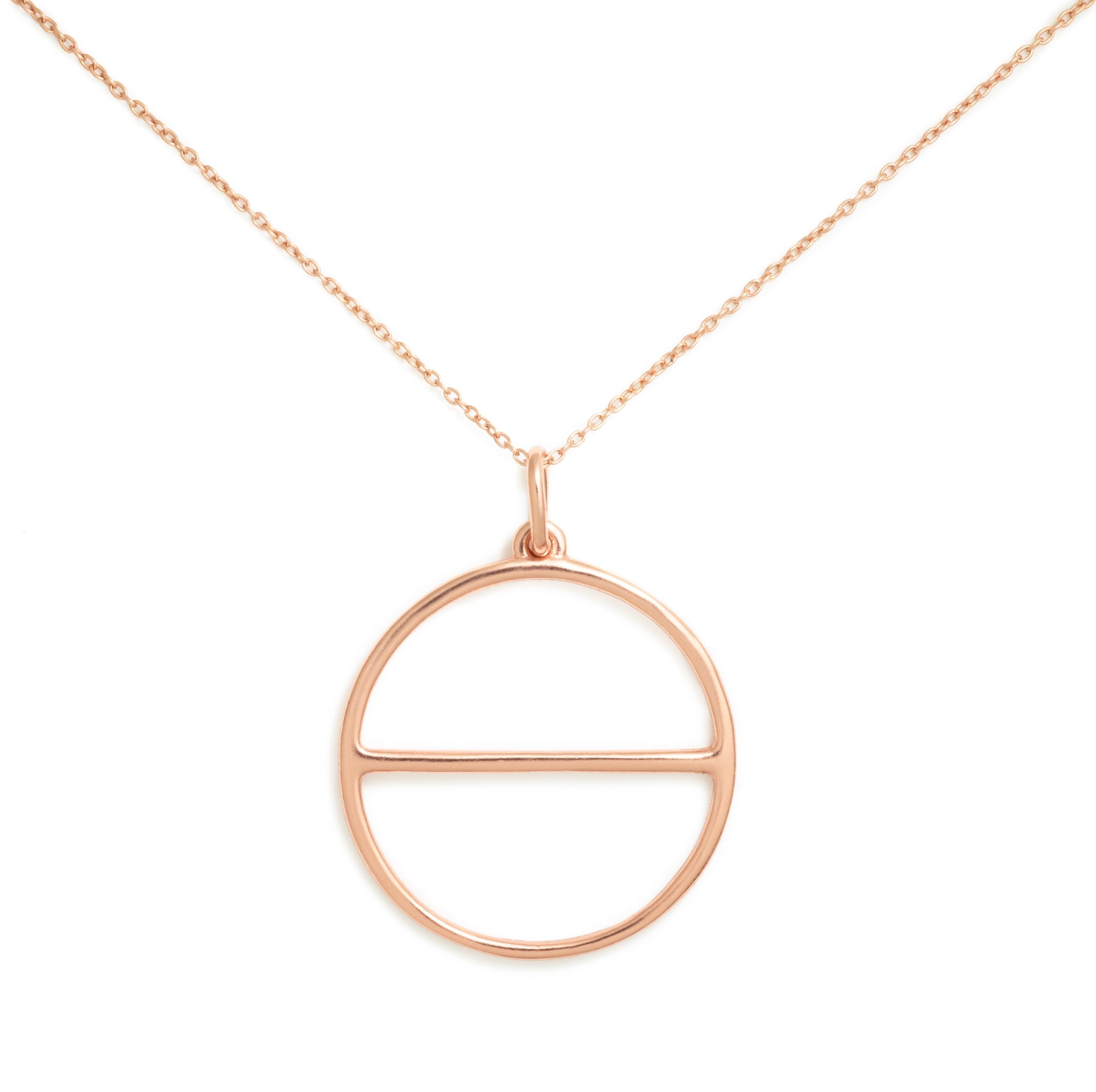 Salt Symbol Necklace (Large), Rose Gold Plated